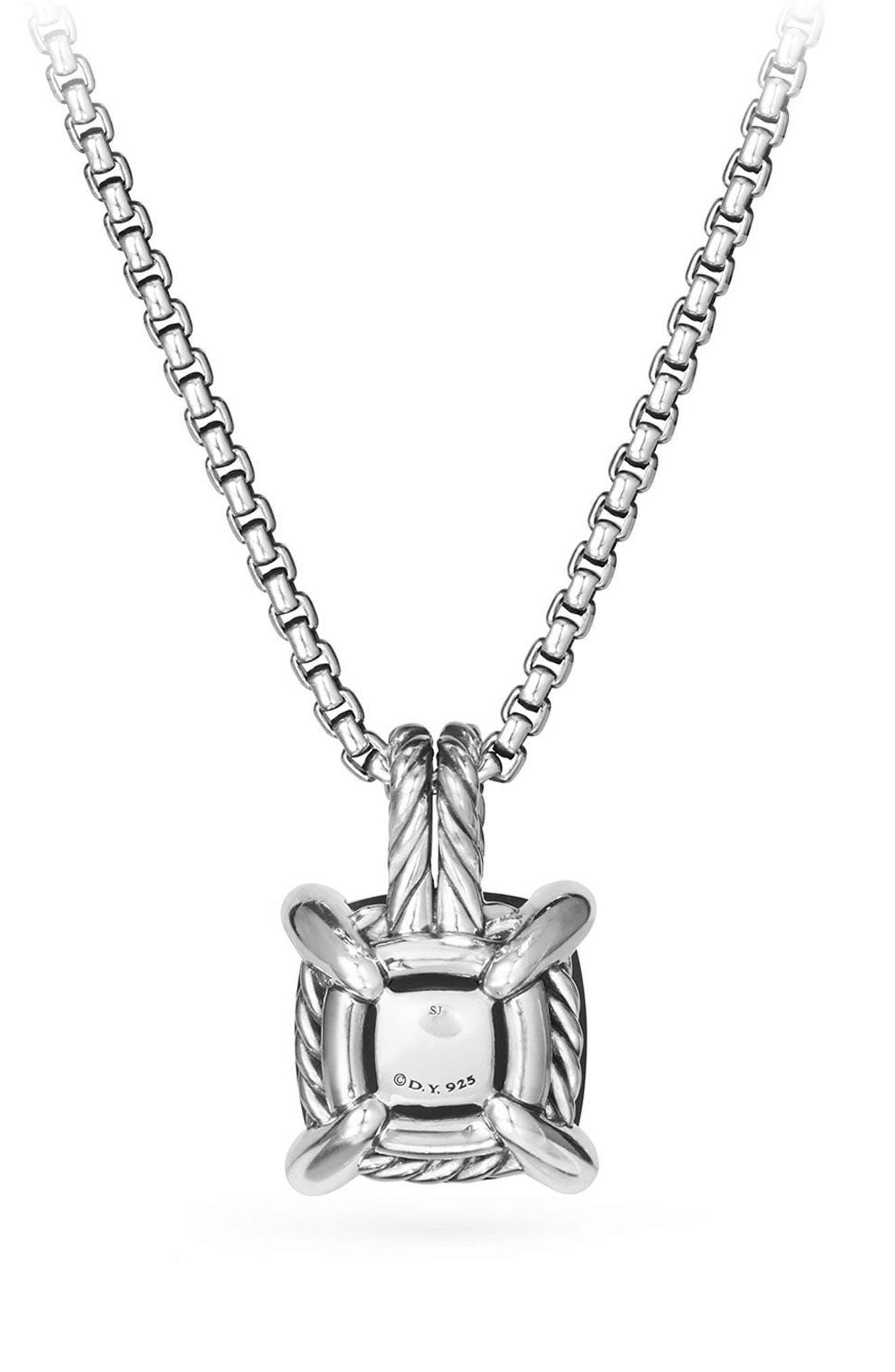 Châtelaine Pendant Necklace with Black Onyx and Diamonds,                             Alternate thumbnail 2, color,                             BLACK ONYX