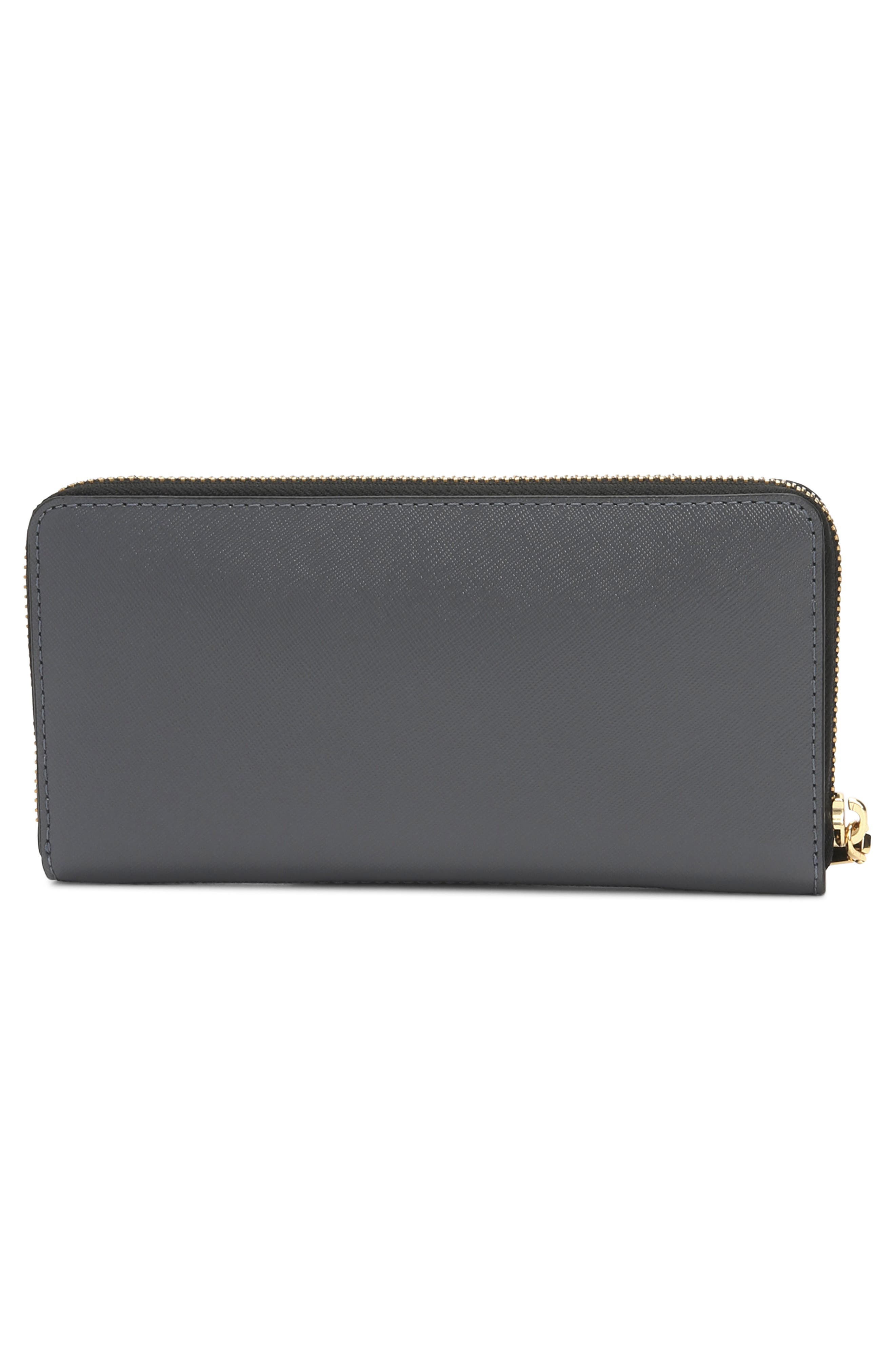 Snapshot Leather Continental Wallet,                             Alternate thumbnail 3, color,                             BLACK MULTI