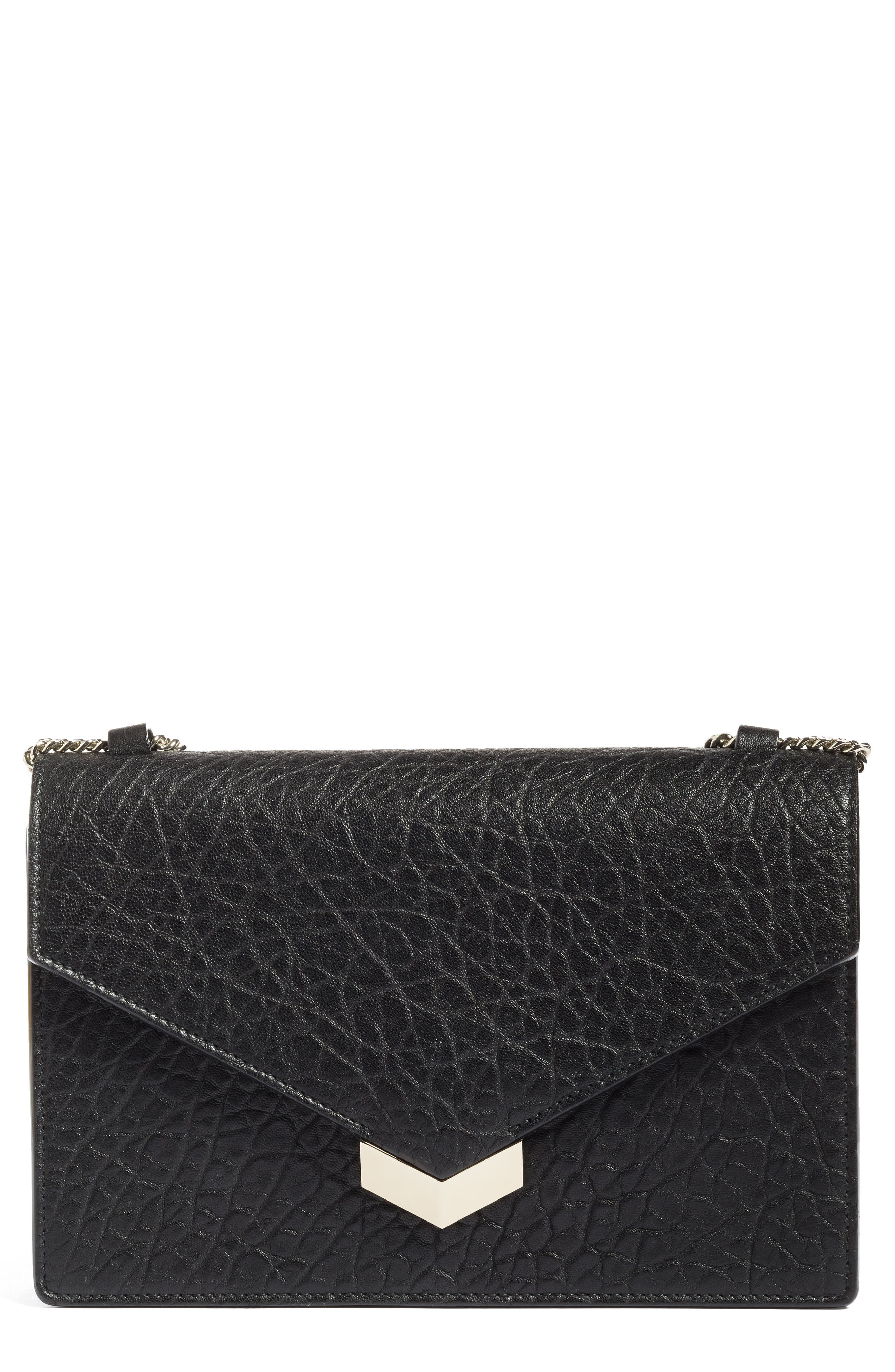 Leila Grainy Lambskin Leather Crossbody Bag,                             Alternate thumbnail 2, color,                             001