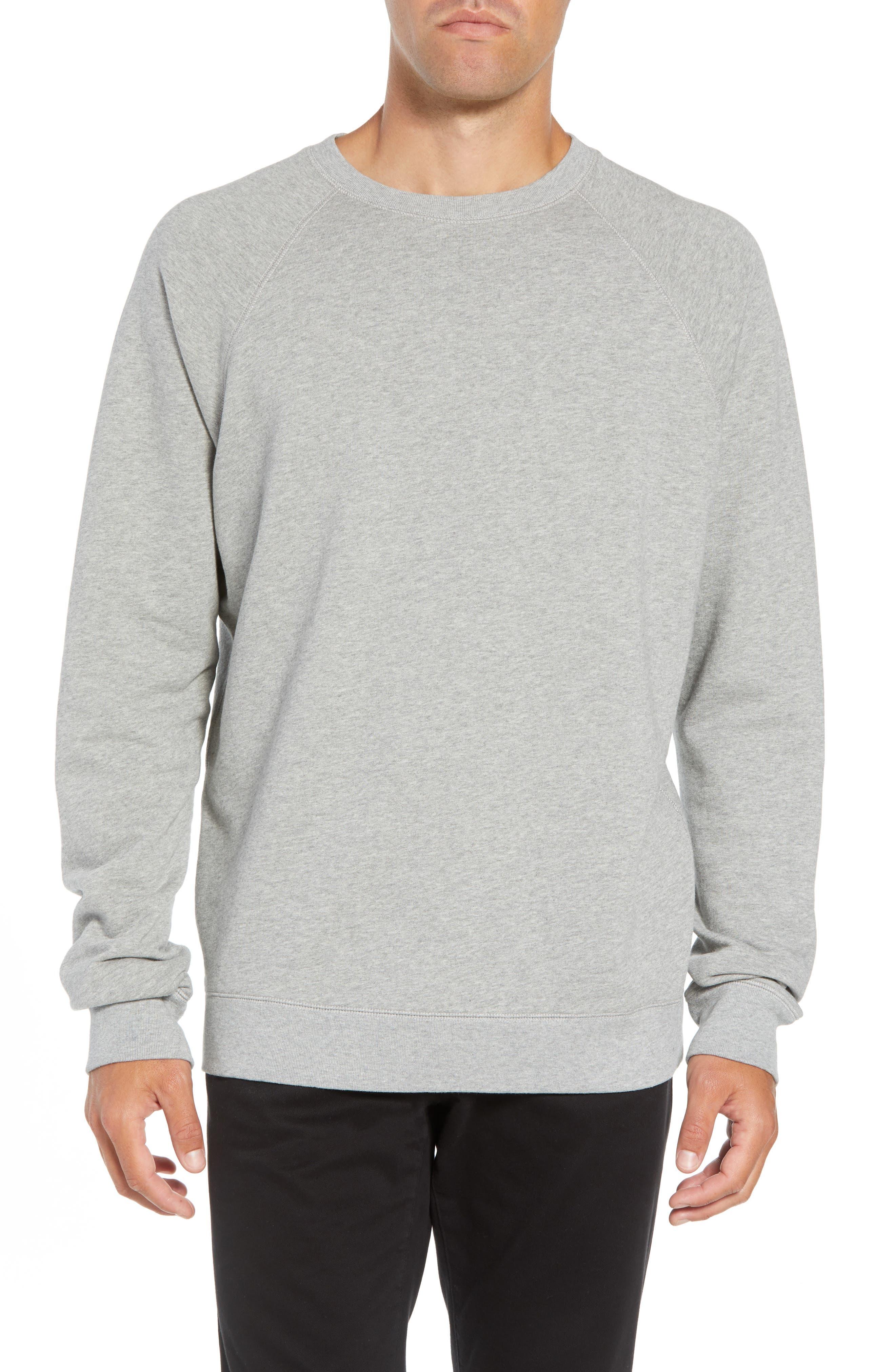 Aim French Terry Raglan Sweatshirt,                             Main thumbnail 1, color,                             GREY MELANGE