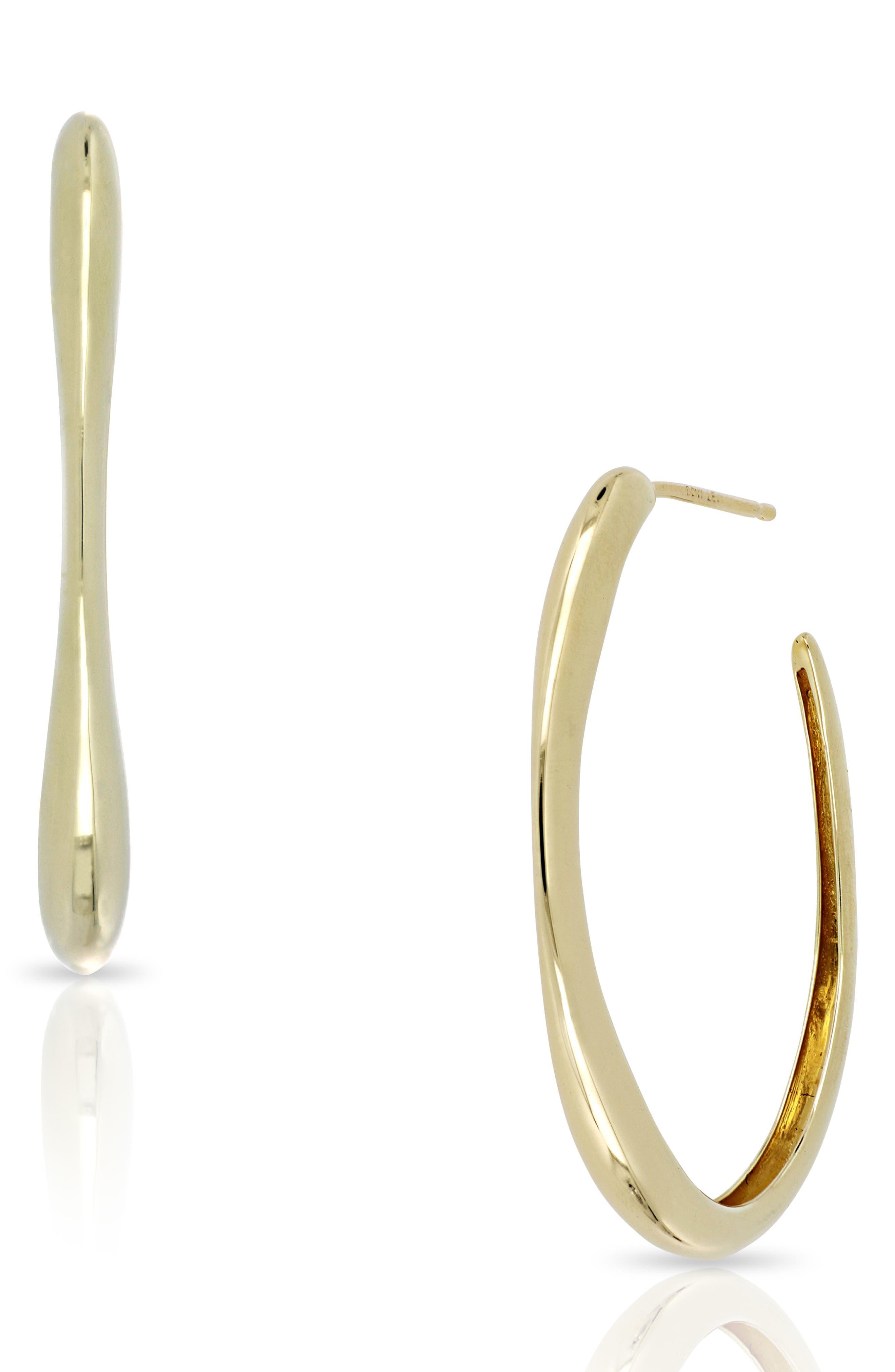 Ofira Oval Hoop Earrings,                             Main thumbnail 1, color,                             YELLOW GOLD