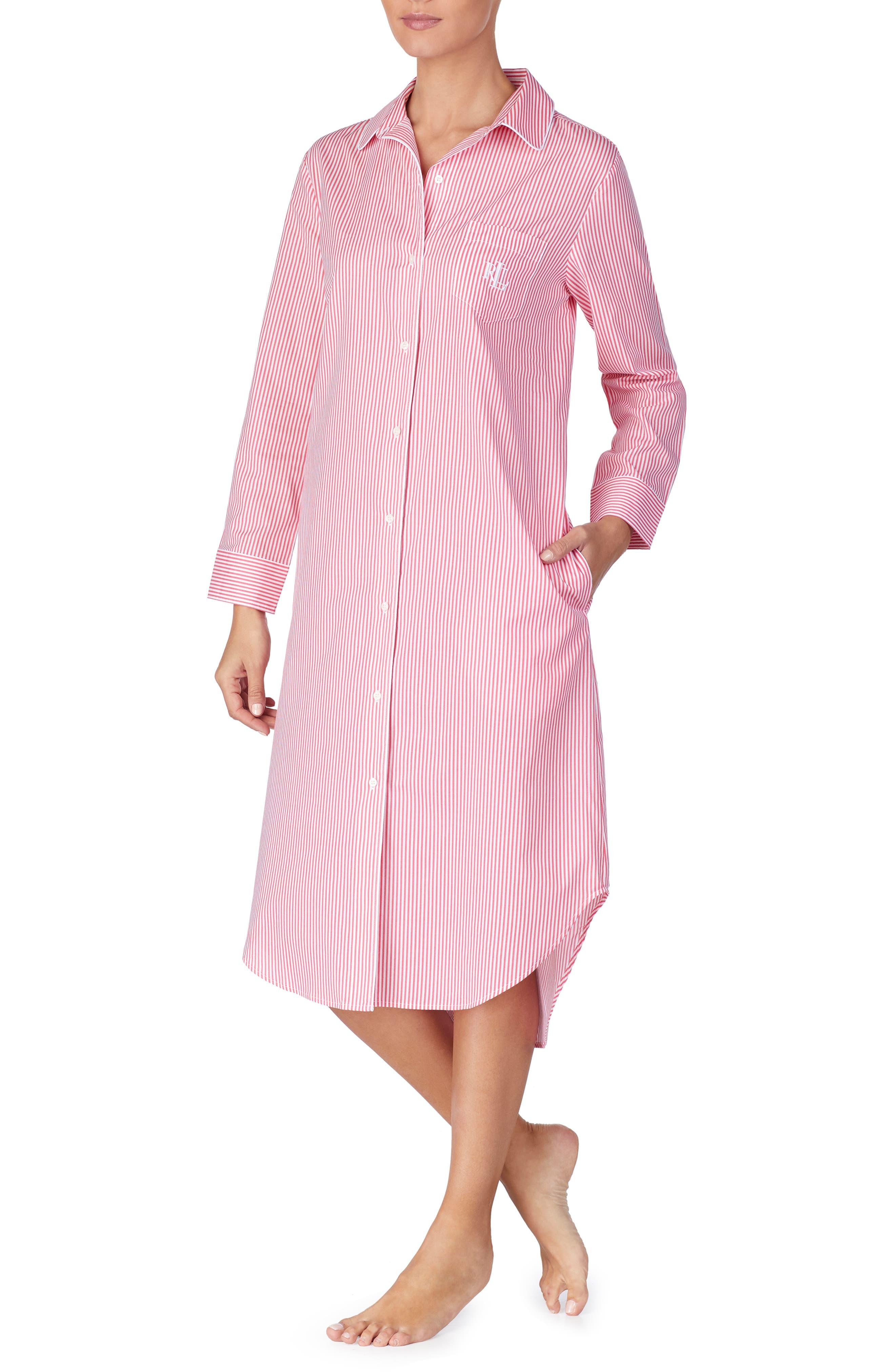 Plus Size Lauren Ralph Lauren Ballet Sleep Shirt, Pink