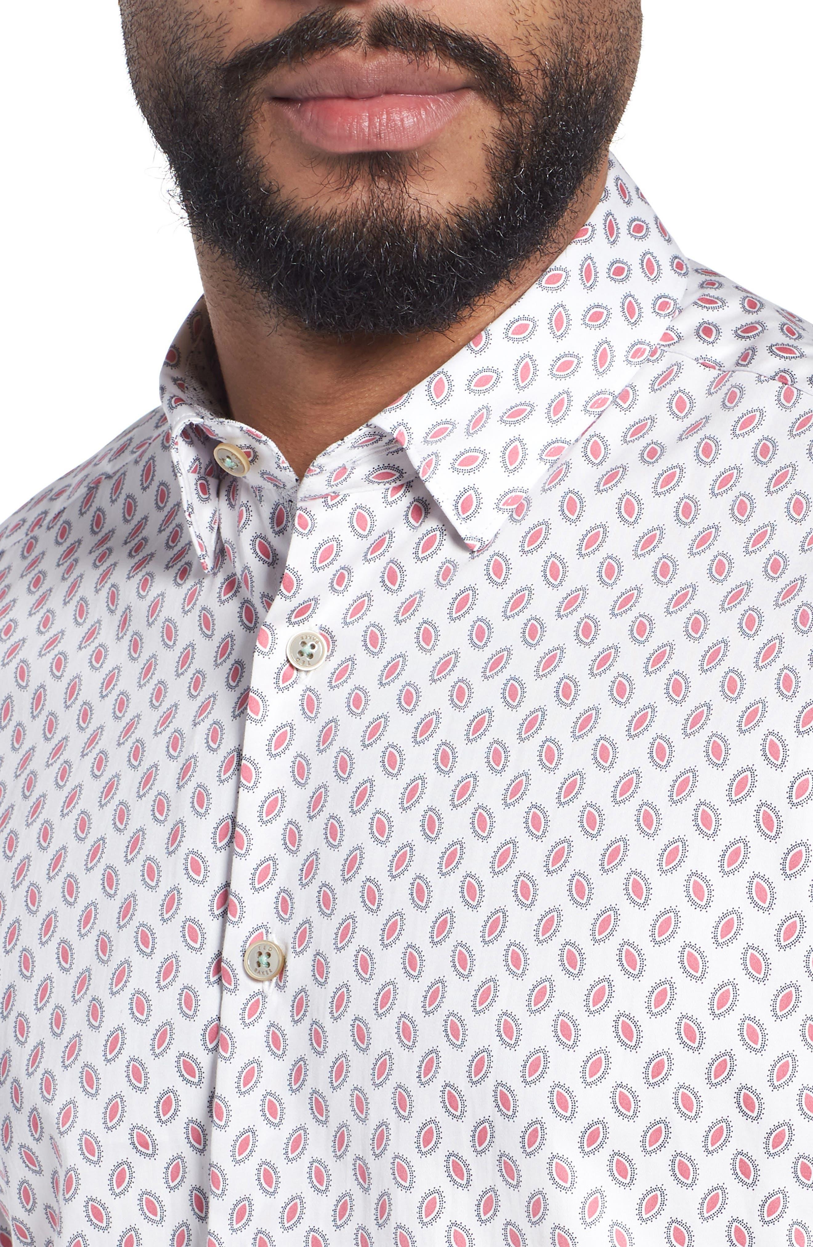 Newfone Trim Fit Chambray Sport Shirt,                             Alternate thumbnail 16, color,