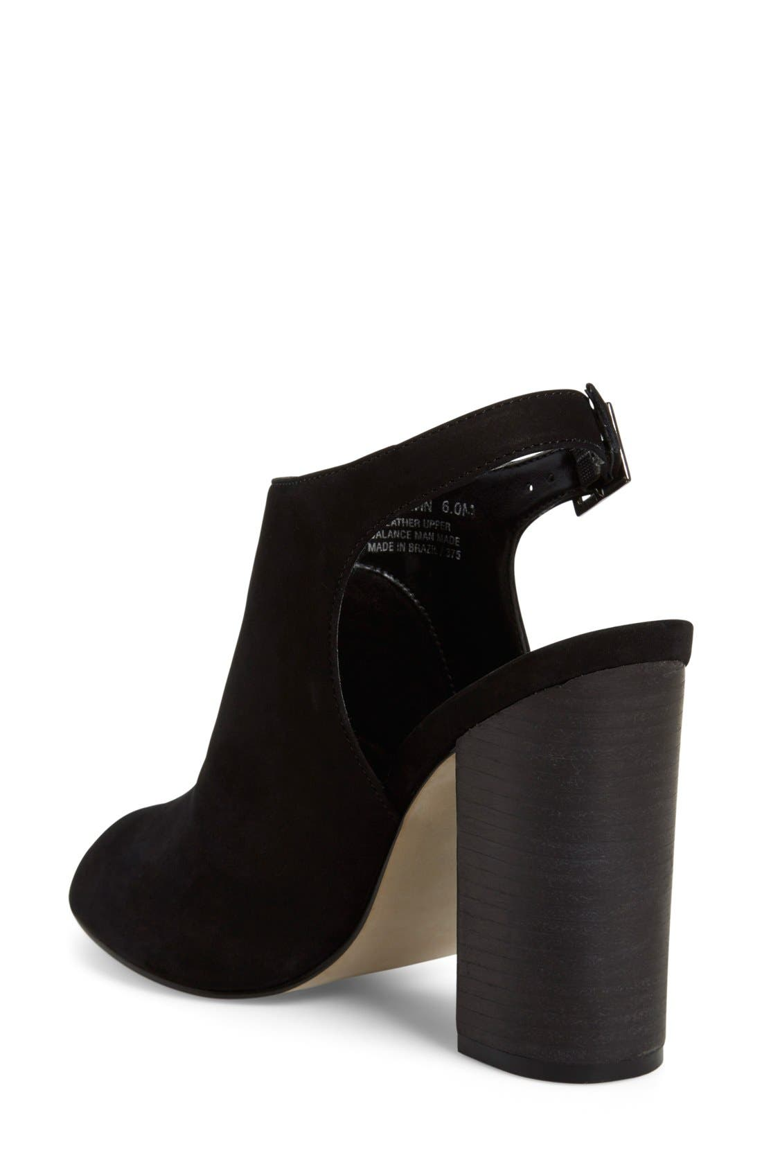 'Claara' Block Heel Sandal,                             Alternate thumbnail 4, color,