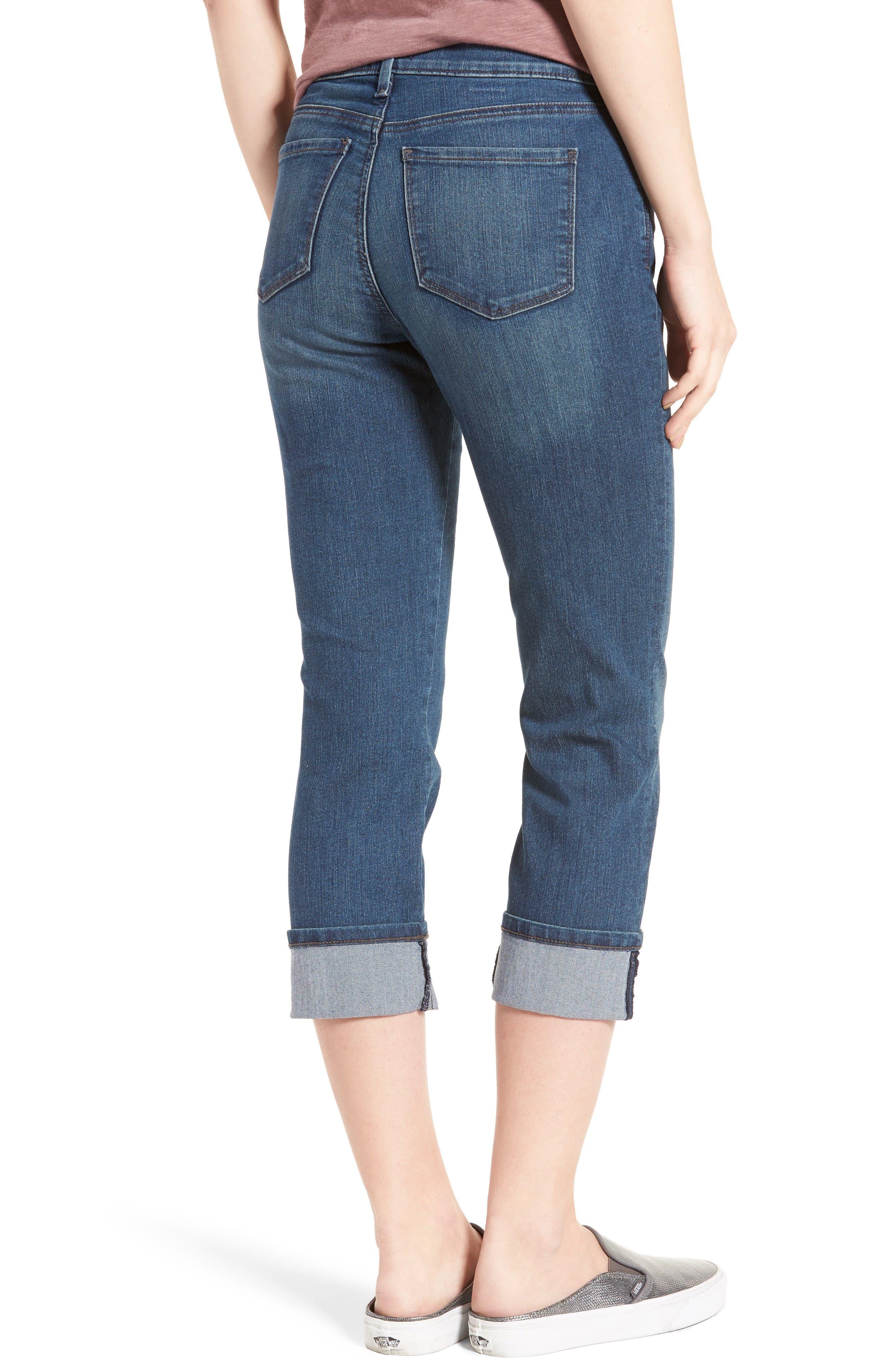 'Dayla' Colored Wide Cuff Capri Jeans,                             Alternate thumbnail 24, color,