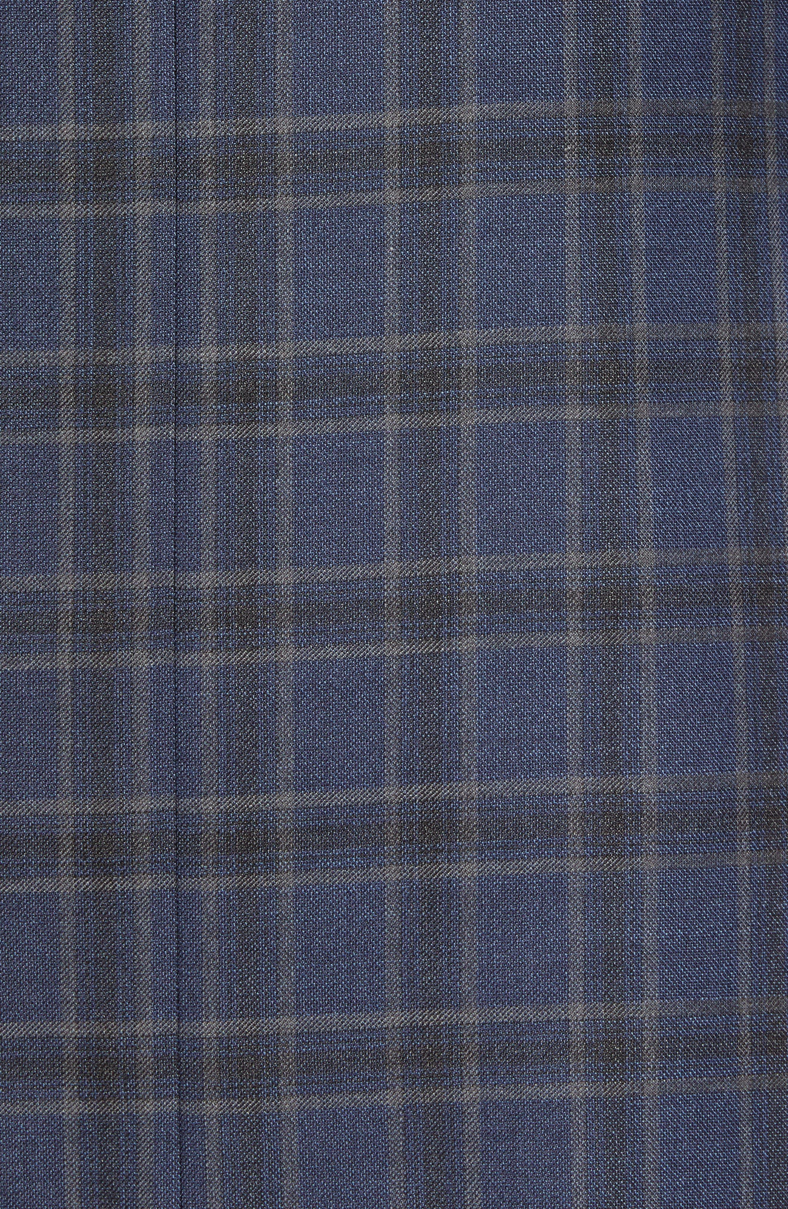 Arnold Classic Fit Plaid Wool Sport Coat,                             Alternate thumbnail 6, color,                             400