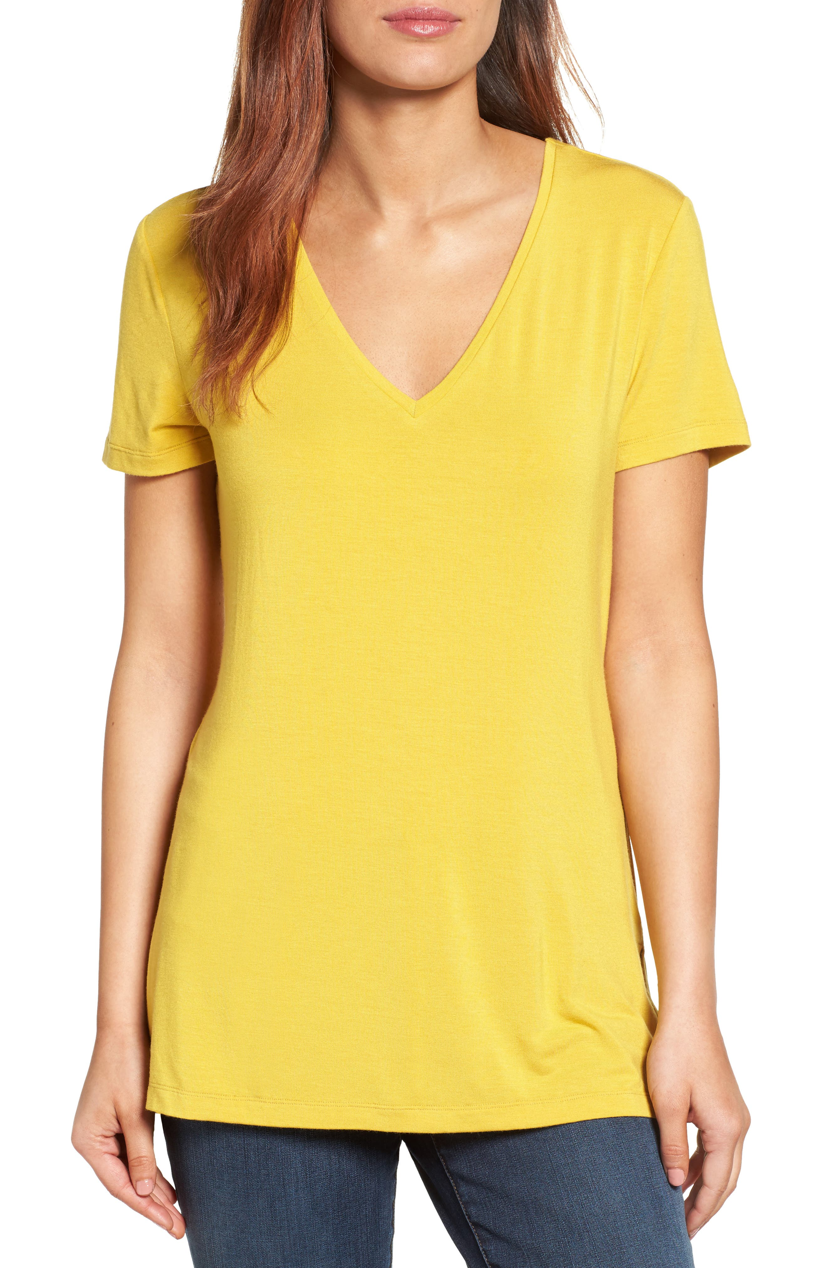 V-Neck Tunic Tee,                             Main thumbnail 11, color,
