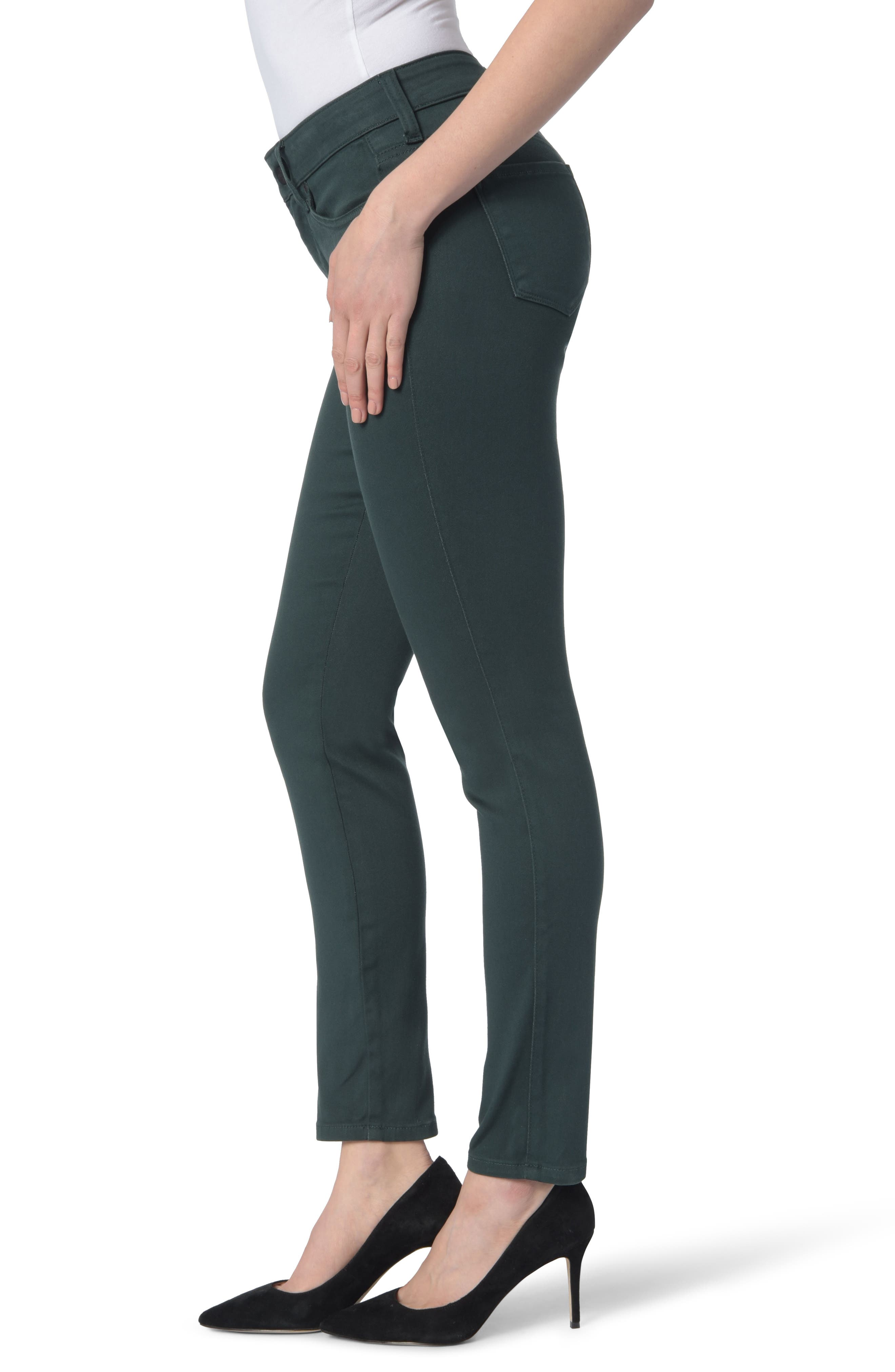 Ami High Waist Colored Stretch Skinny Jeans,                             Alternate thumbnail 3, color,                             VERIDIAN