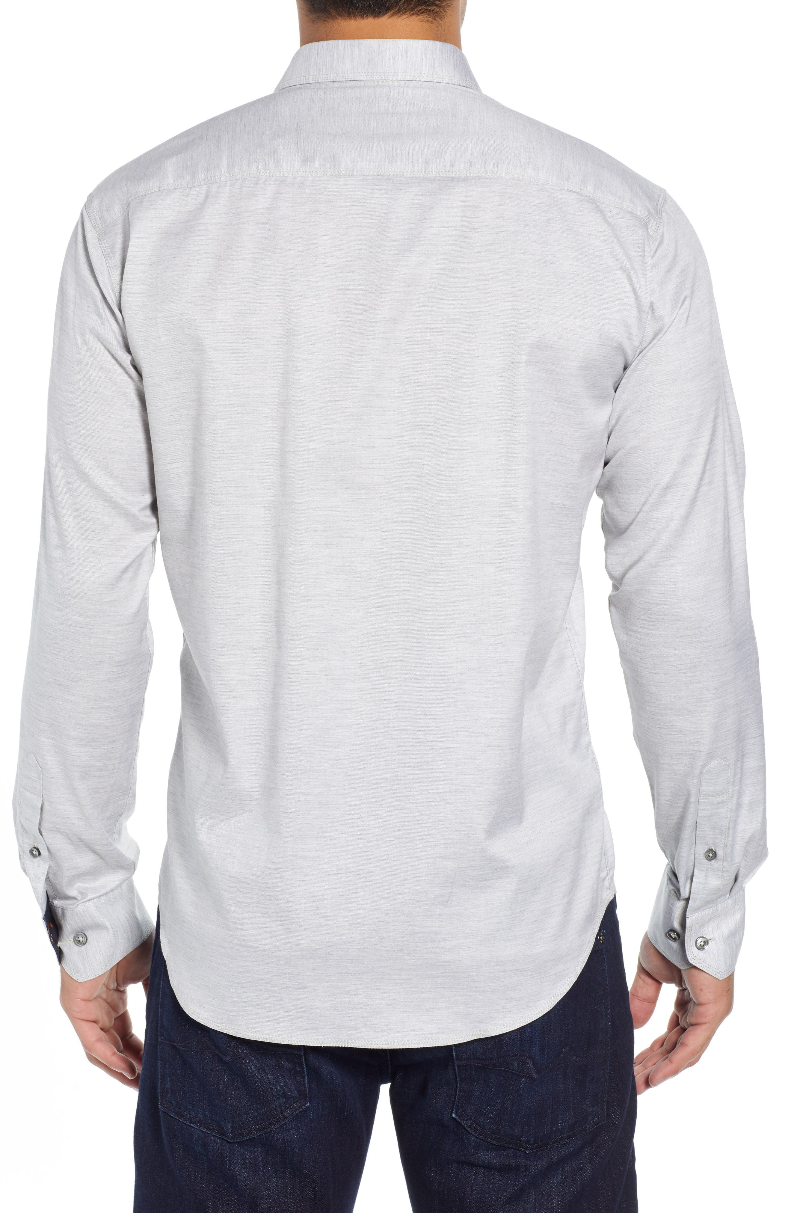 Shaped Fit Sport Shirt,                             Alternate thumbnail 3, color,                             SAND