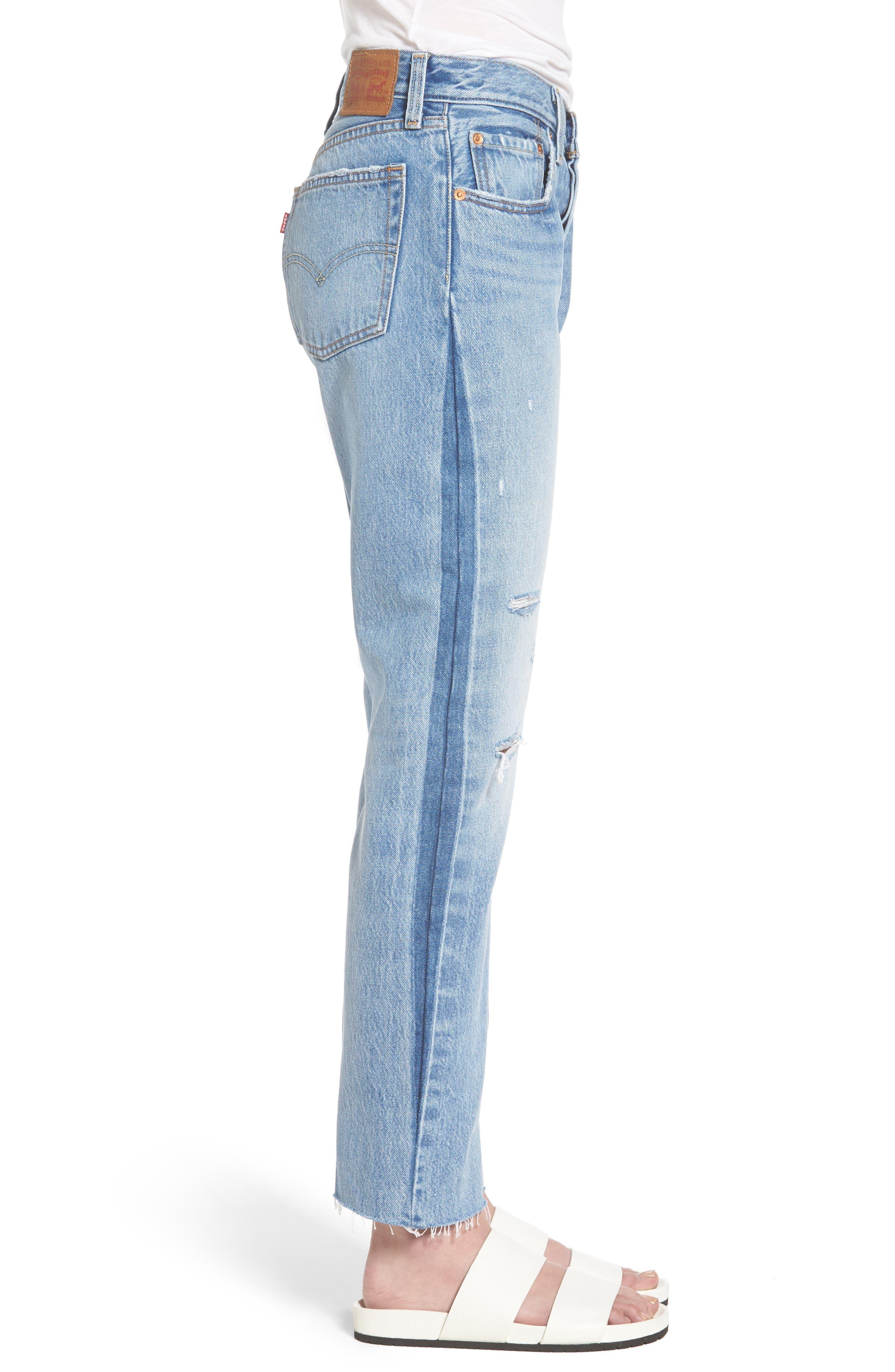 501 Crop Jeans,                             Alternate thumbnail 3, color,                             420