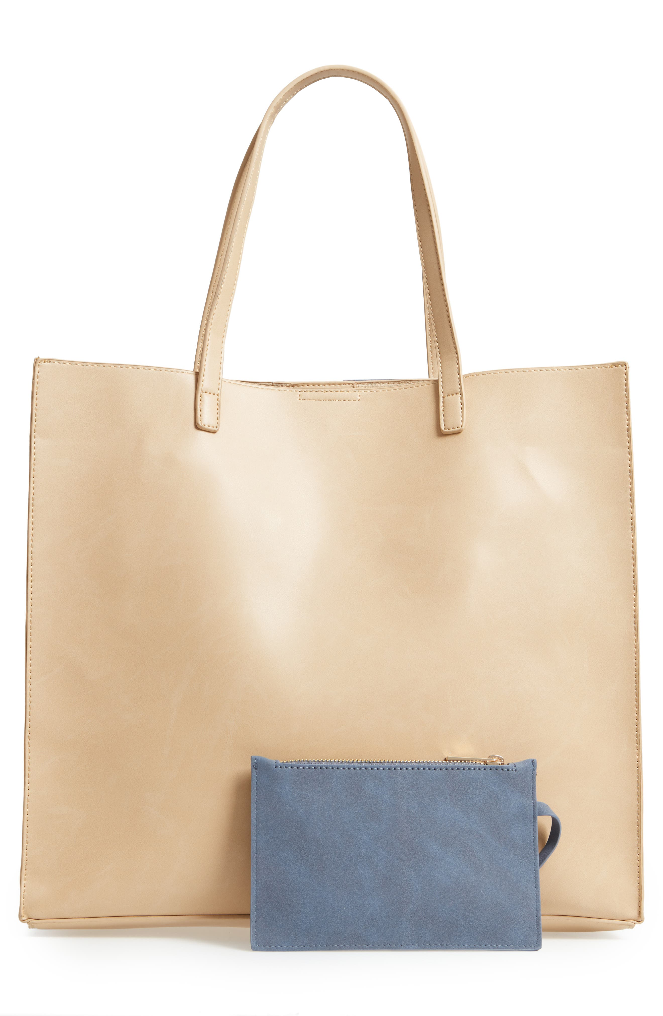 Adeline Stripe Faux Leather Tote,                             Alternate thumbnail 3, color,