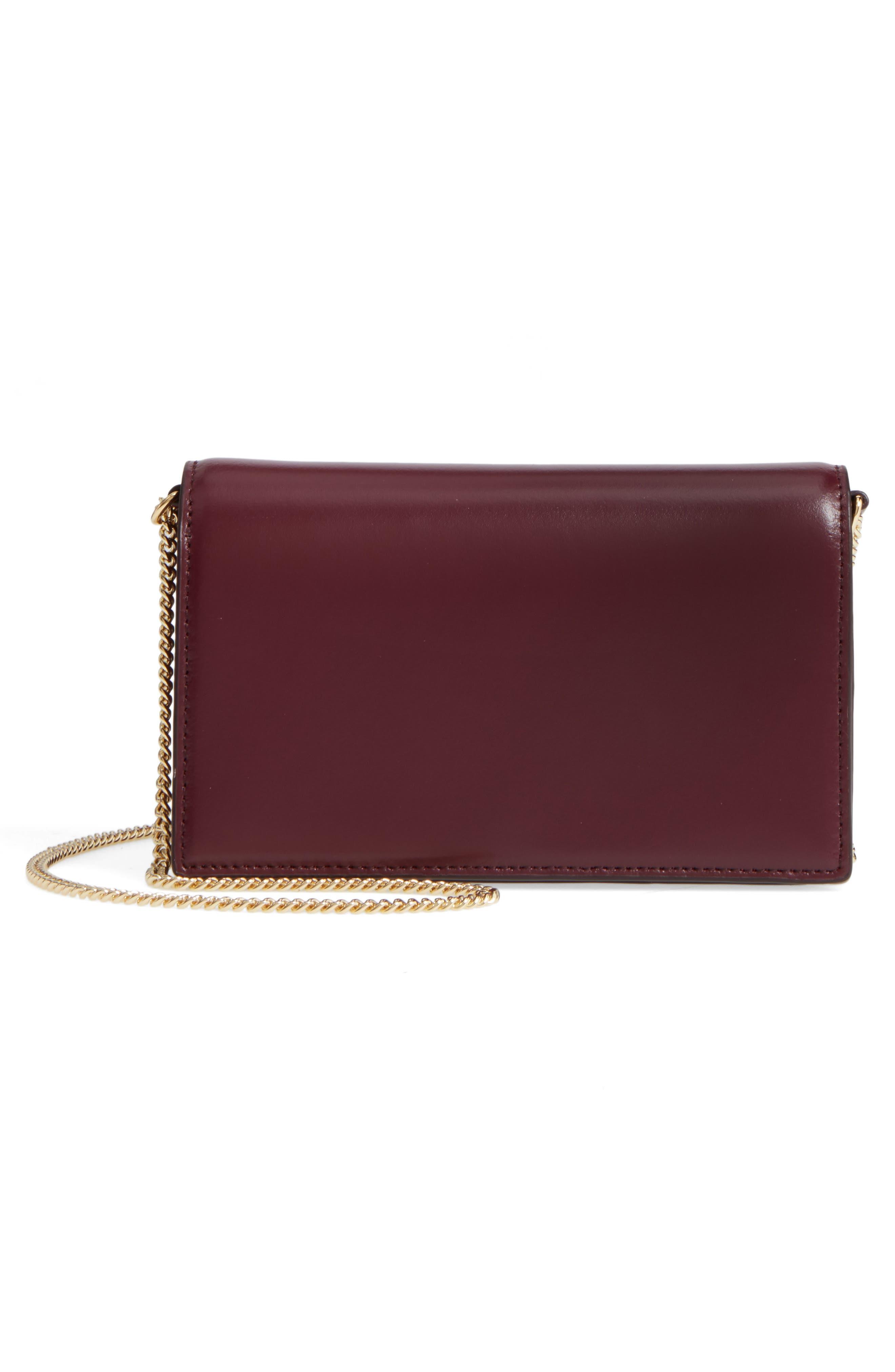 Soirée Leather Convertible Crossbody Bag,                             Alternate thumbnail 9, color,