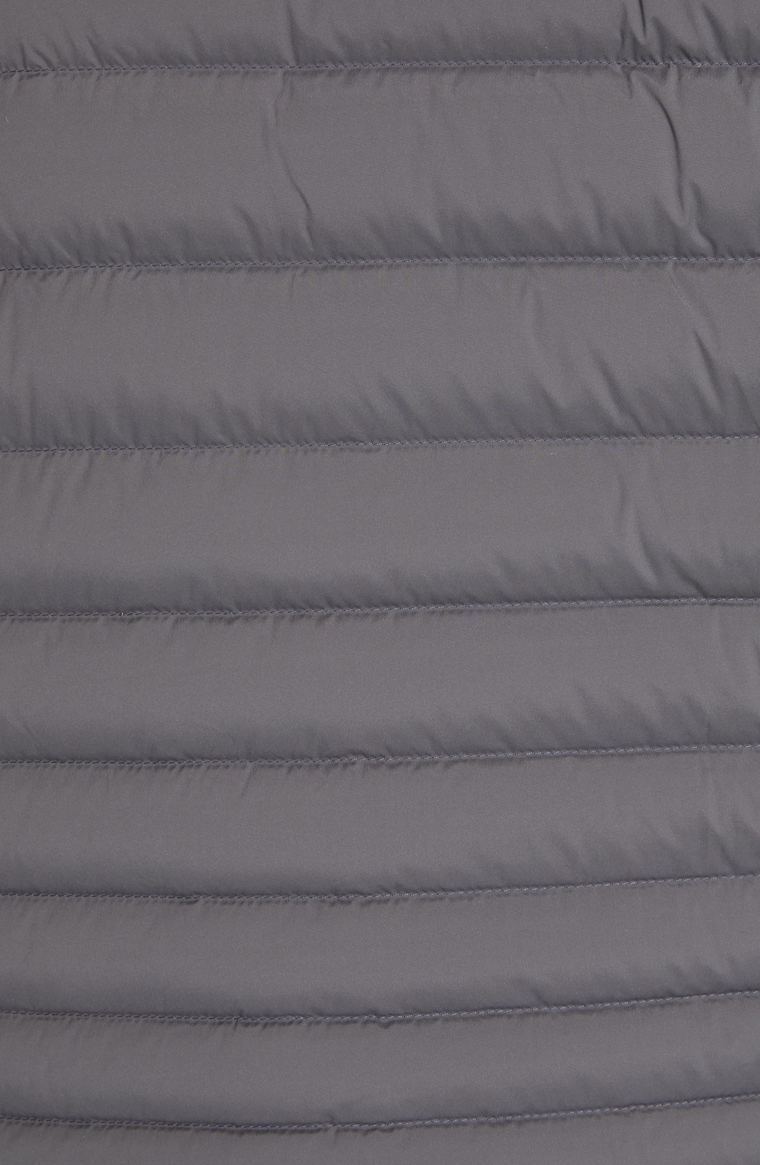 Blackcomb Stretch Hooded Men's Down Fill Jacket,                             Alternate thumbnail 7, color,                             STEEL GREY