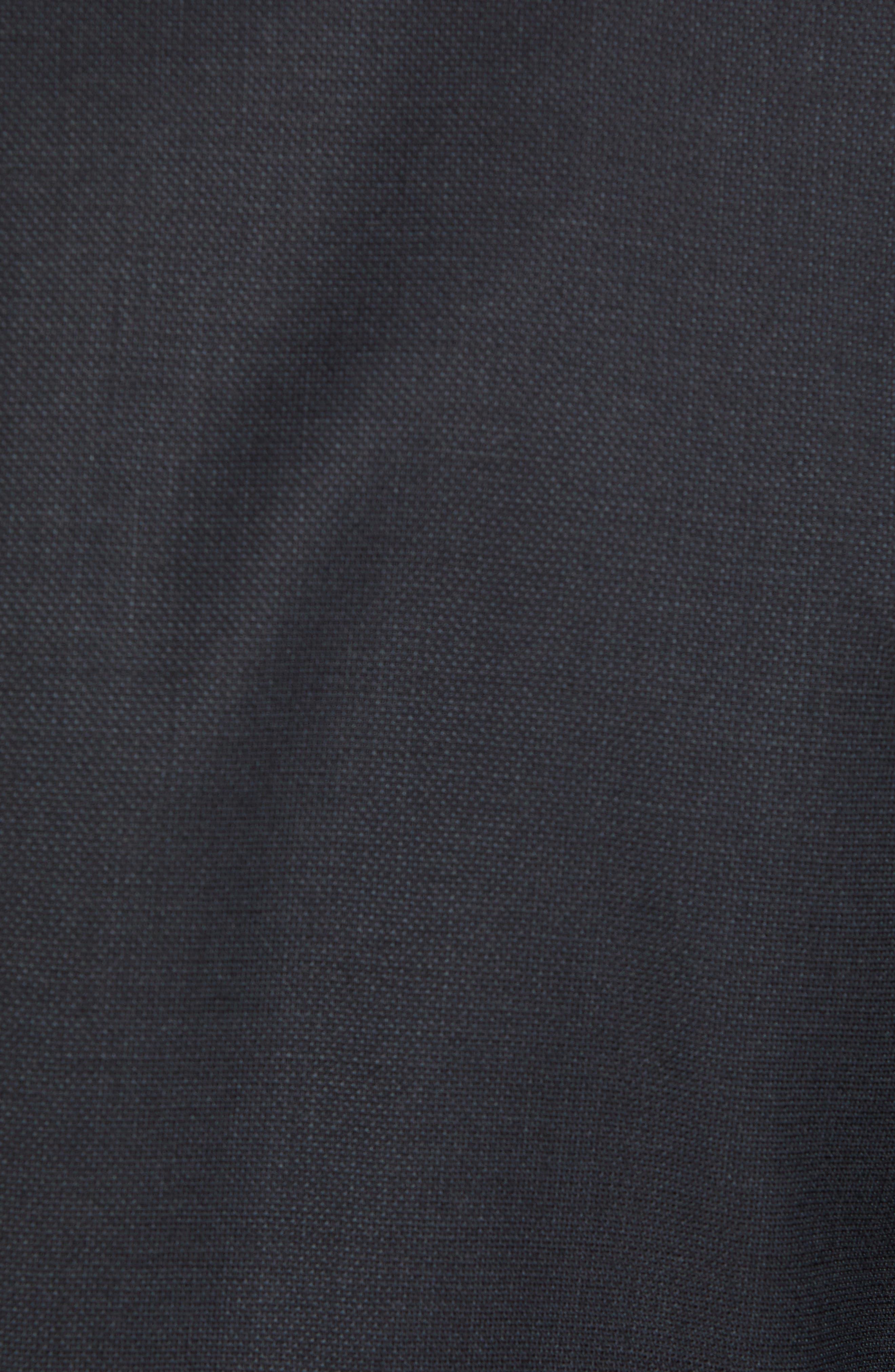 BOSS,                             Helward/Genius Trim Fit Solid Three Piece Wool Suit,                             Alternate thumbnail 8, color,                             DARK GREY