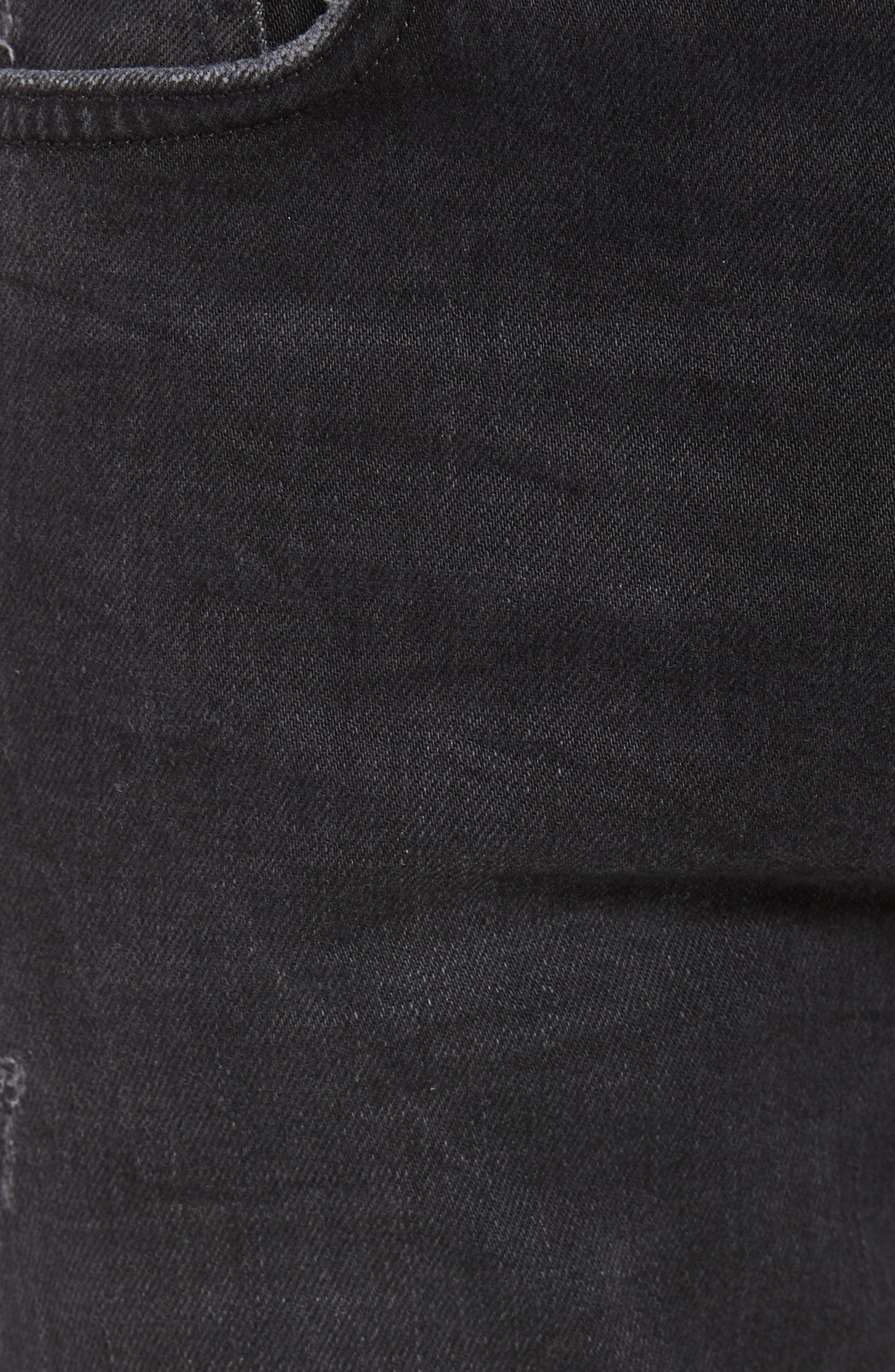 Raveline Skinny Fit Jeans,                             Alternate thumbnail 5, color,                             001