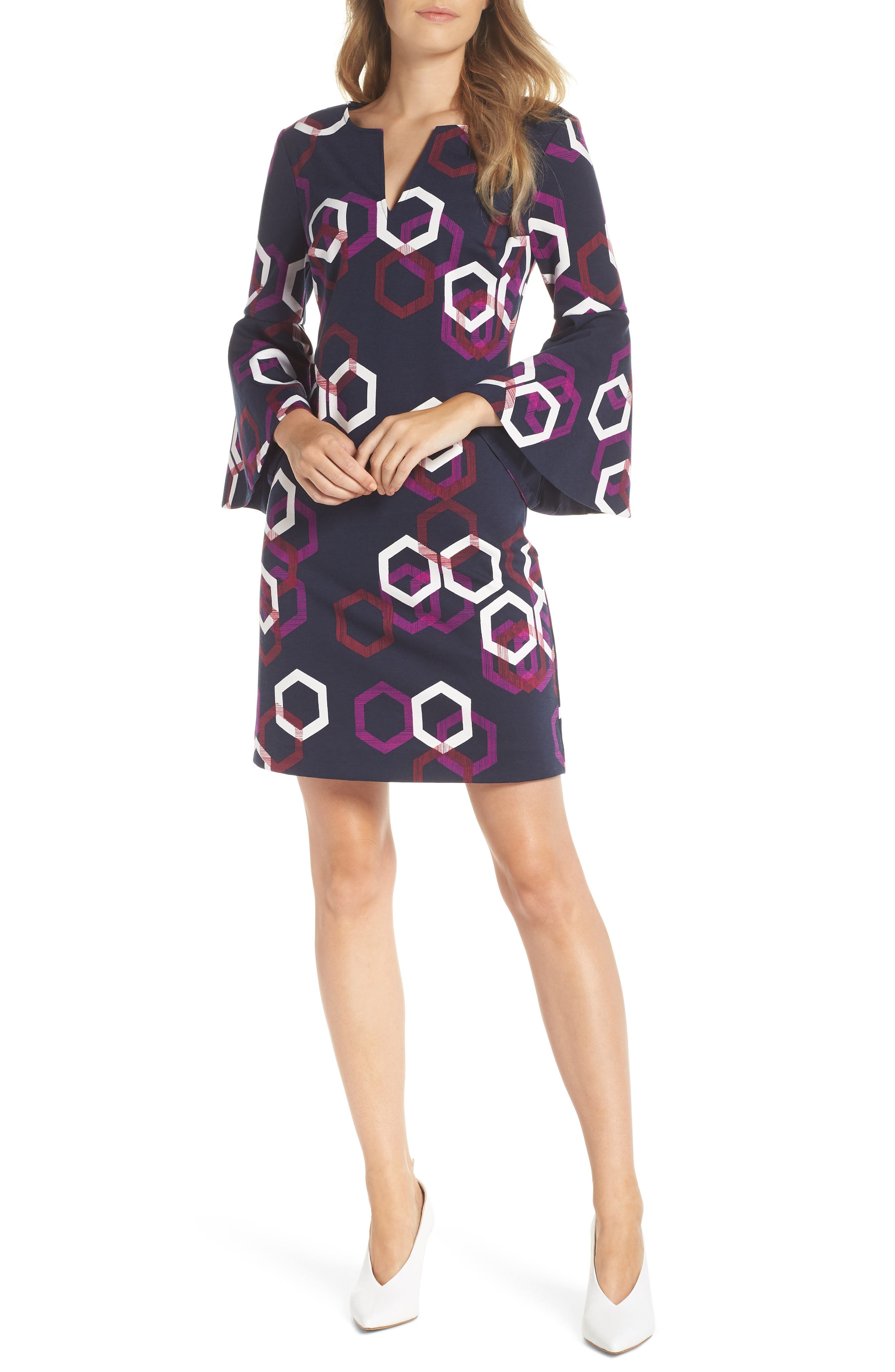 Pali Hexagon Dress,                             Main thumbnail 1, color,                             MULTI