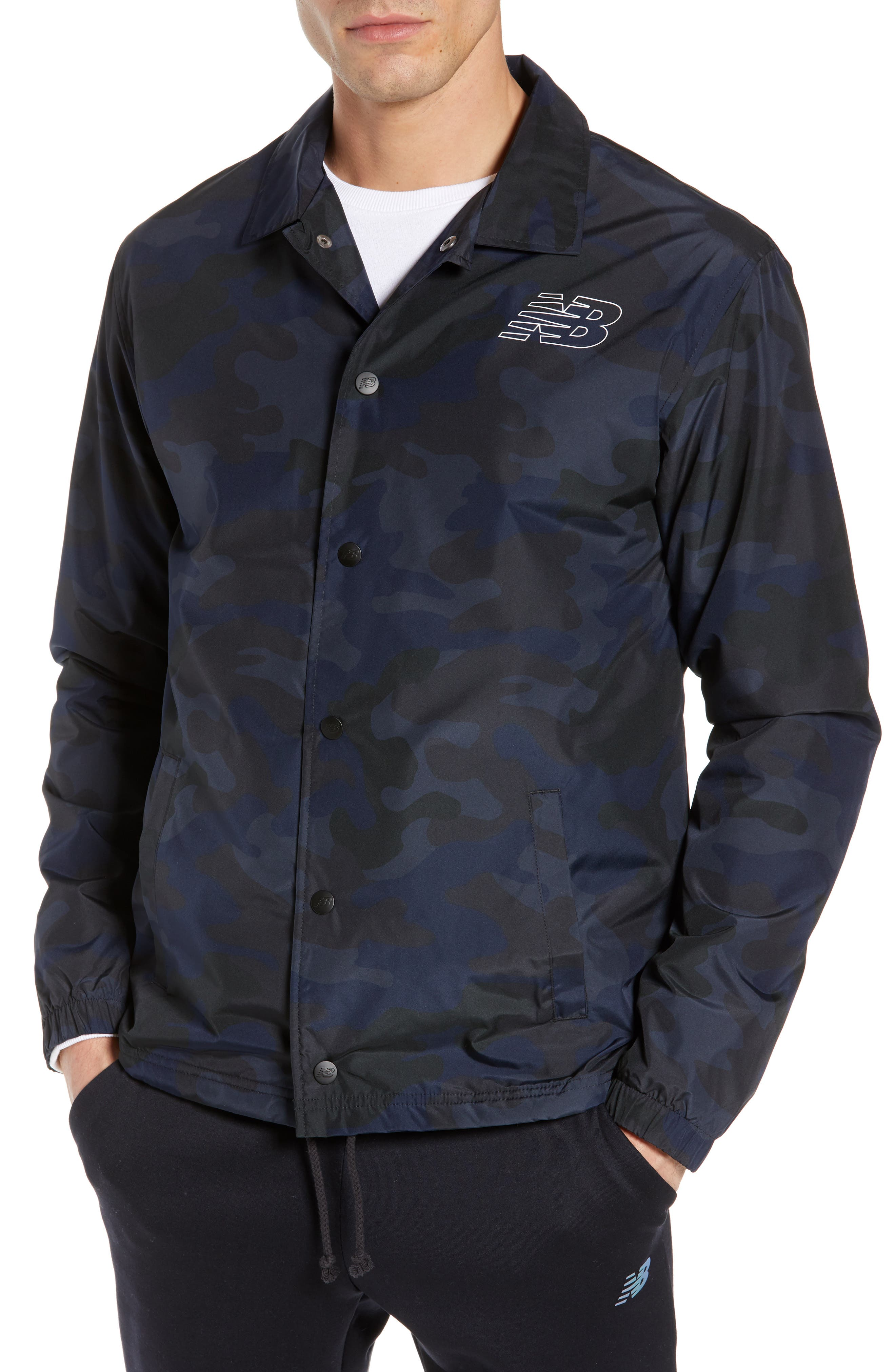 Classic Coach's Jacket,                             Alternate thumbnail 4, color,                             BLACK MULTI