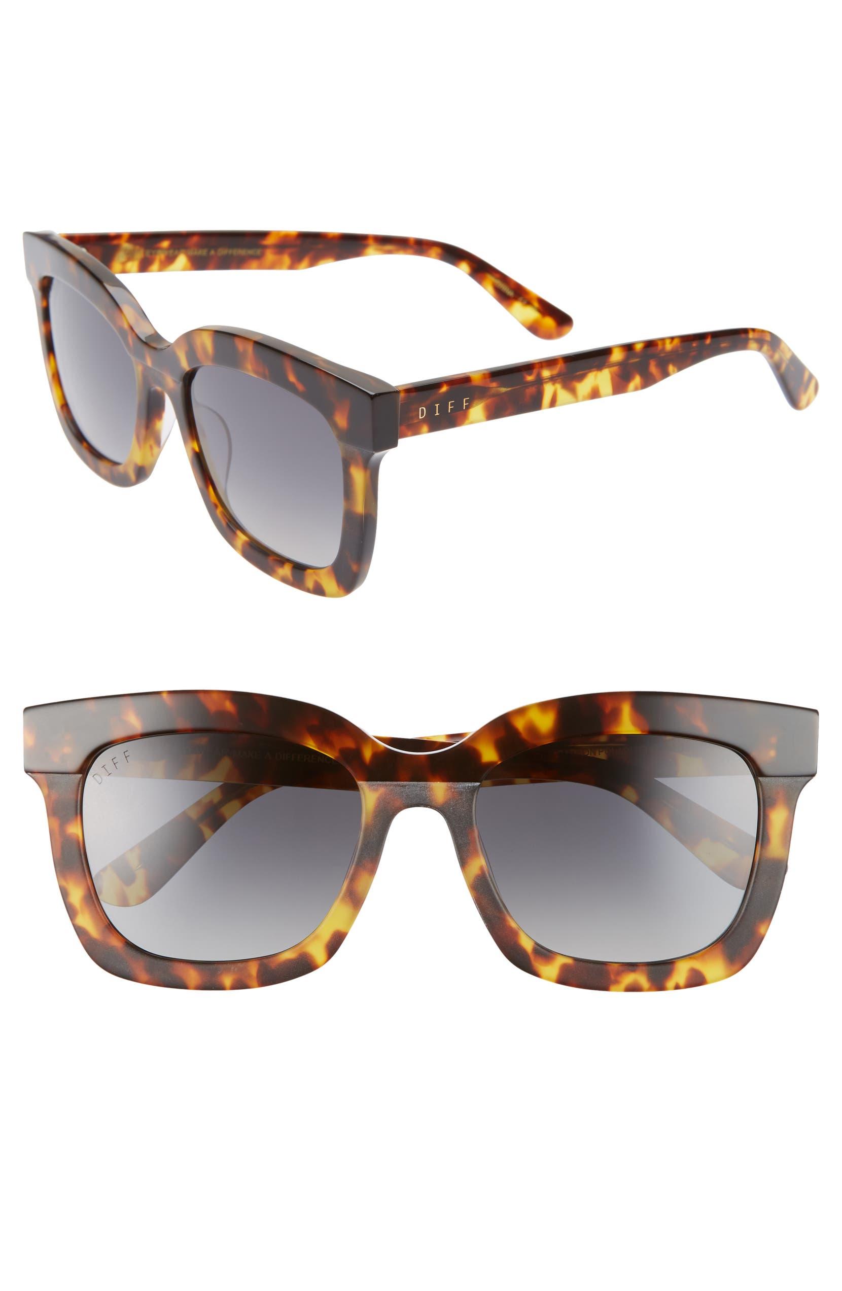 999fa038546 DIFF Carson 53mm Polarized Square Sunglasses