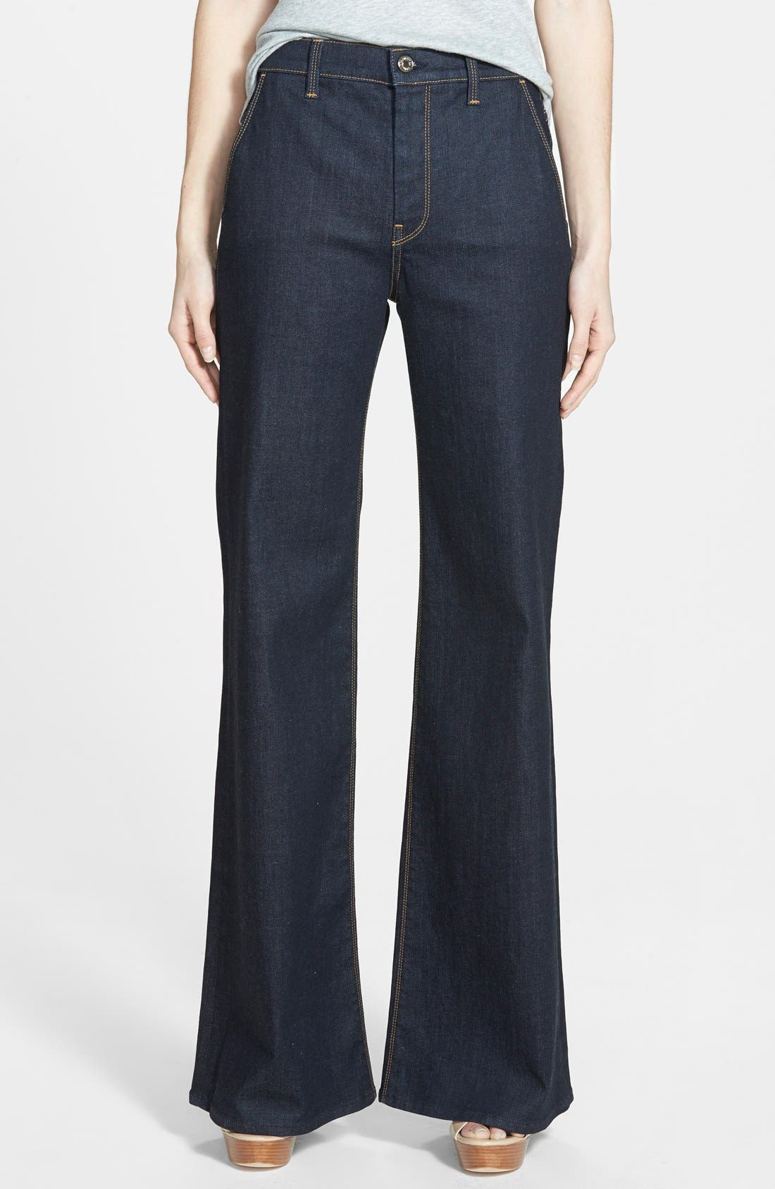 High Rise Flare Jeans,                             Main thumbnail 1, color,                             406