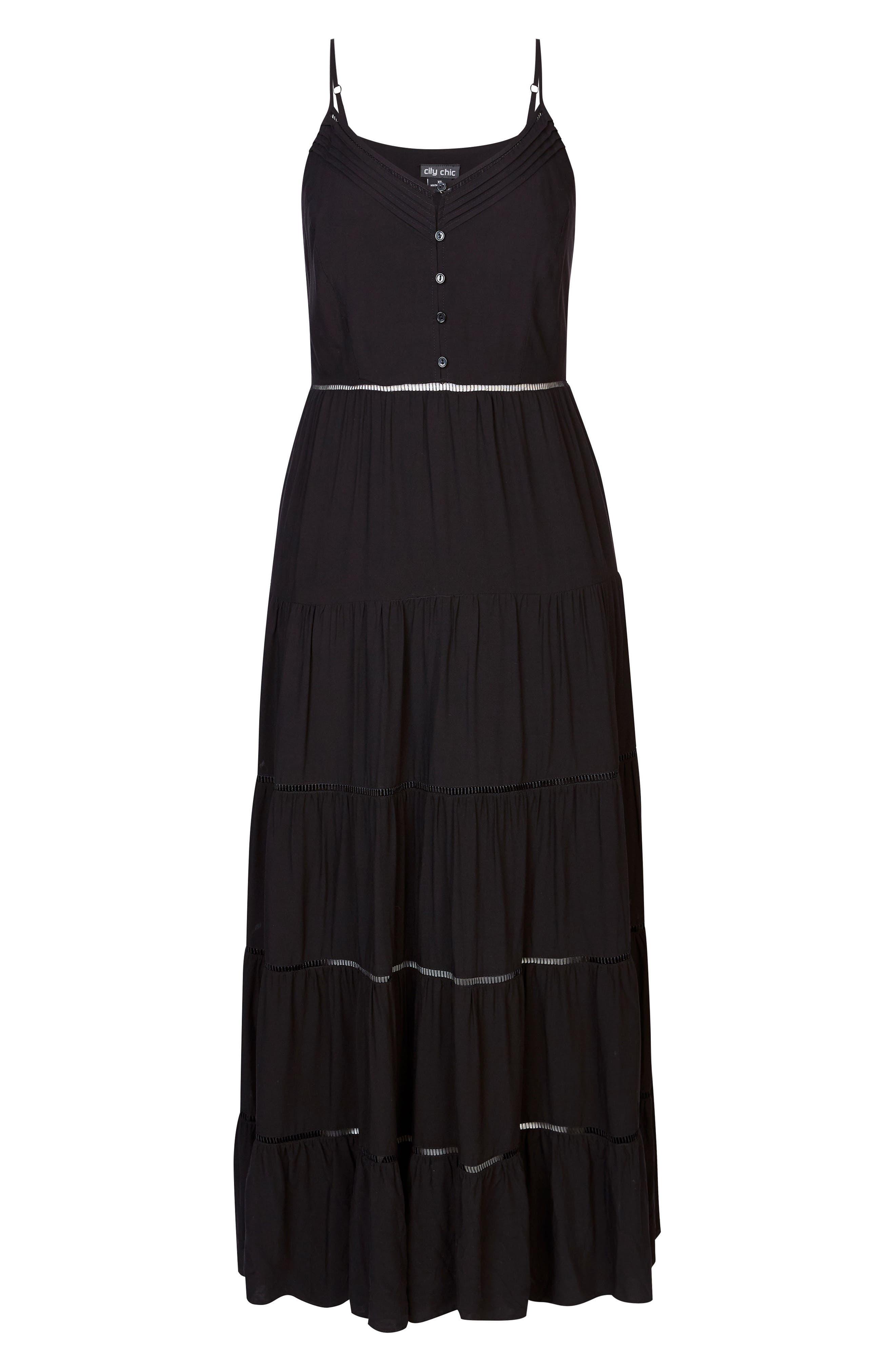 Festival Maxi Dress,                             Alternate thumbnail 3, color,                             BLACK