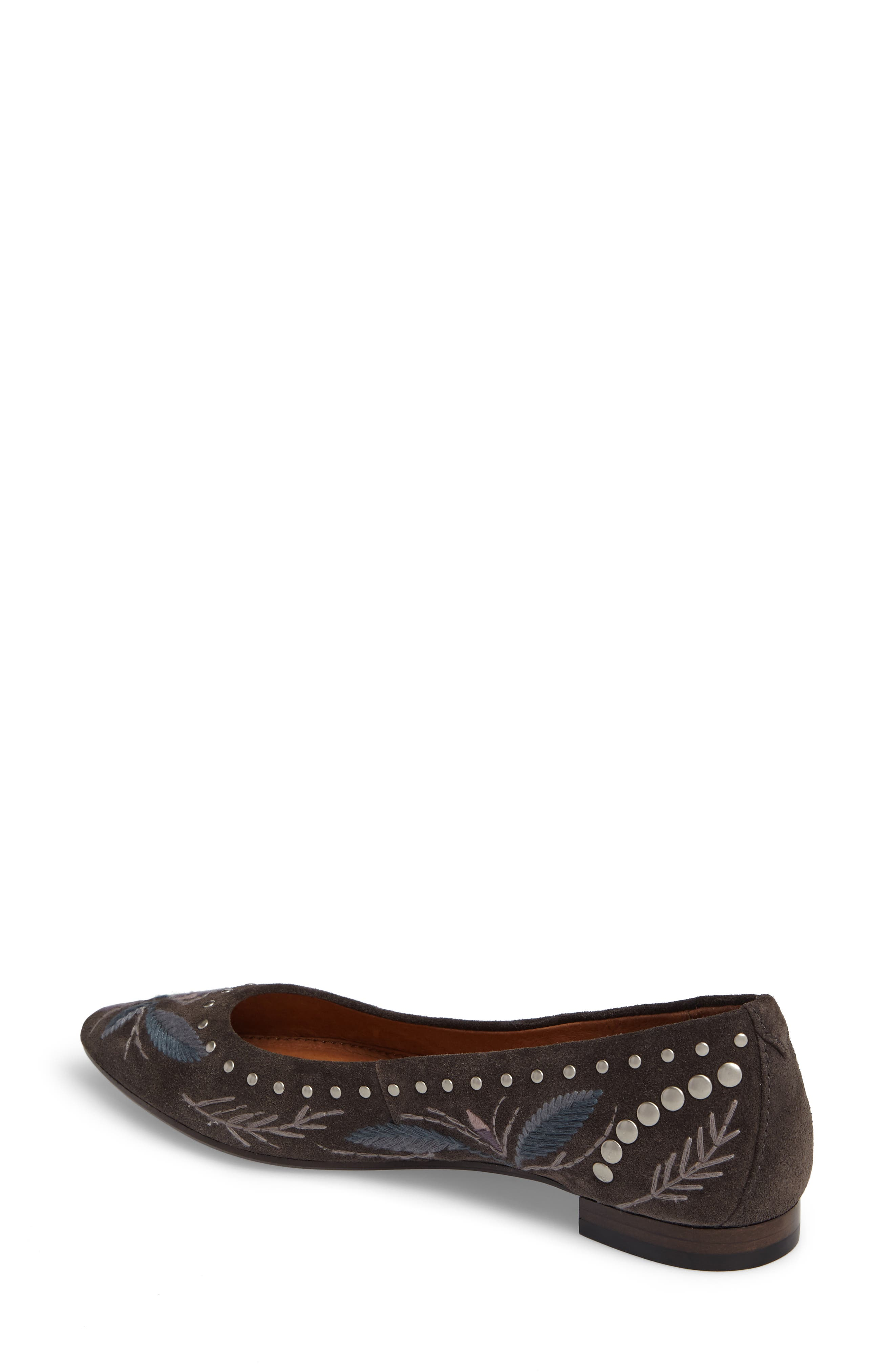 Sienna Embroidered Ballet Flat,                             Alternate thumbnail 2, color,                             030