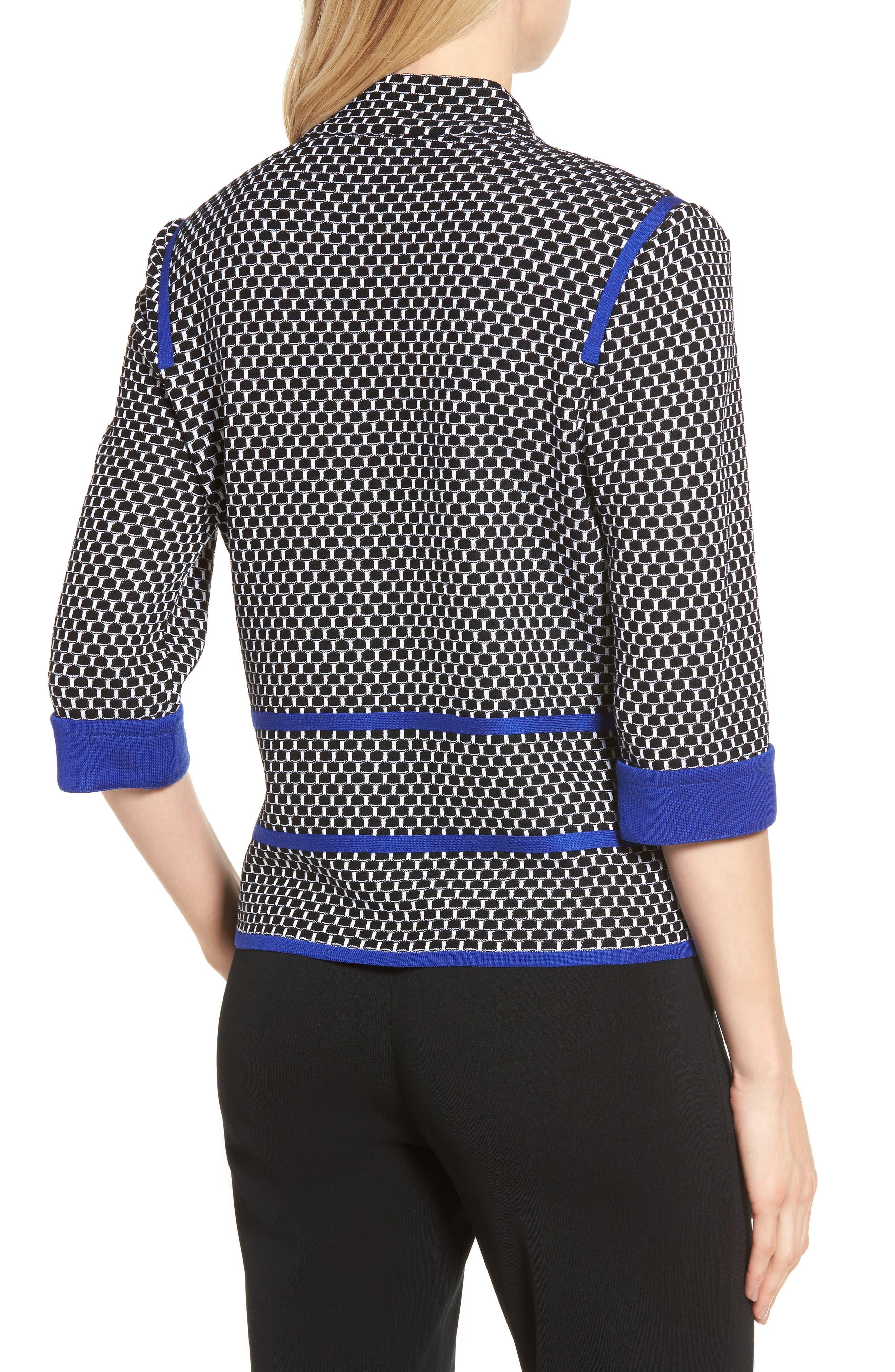 Jacquard Knit Jacket,                             Alternate thumbnail 2, color,                             407
