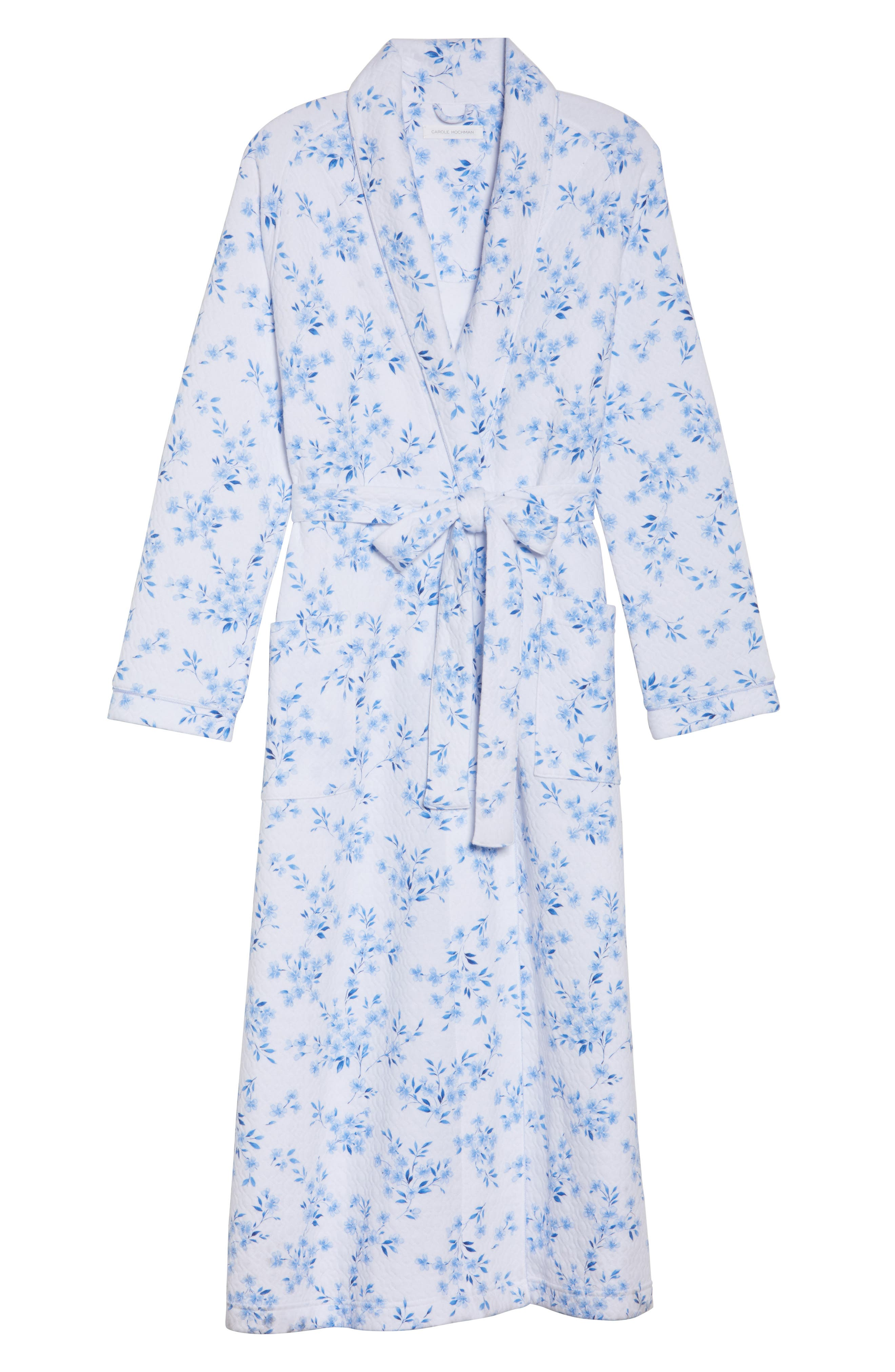 Quilted Robe,                             Alternate thumbnail 6, color,                             FLORAL TWIN