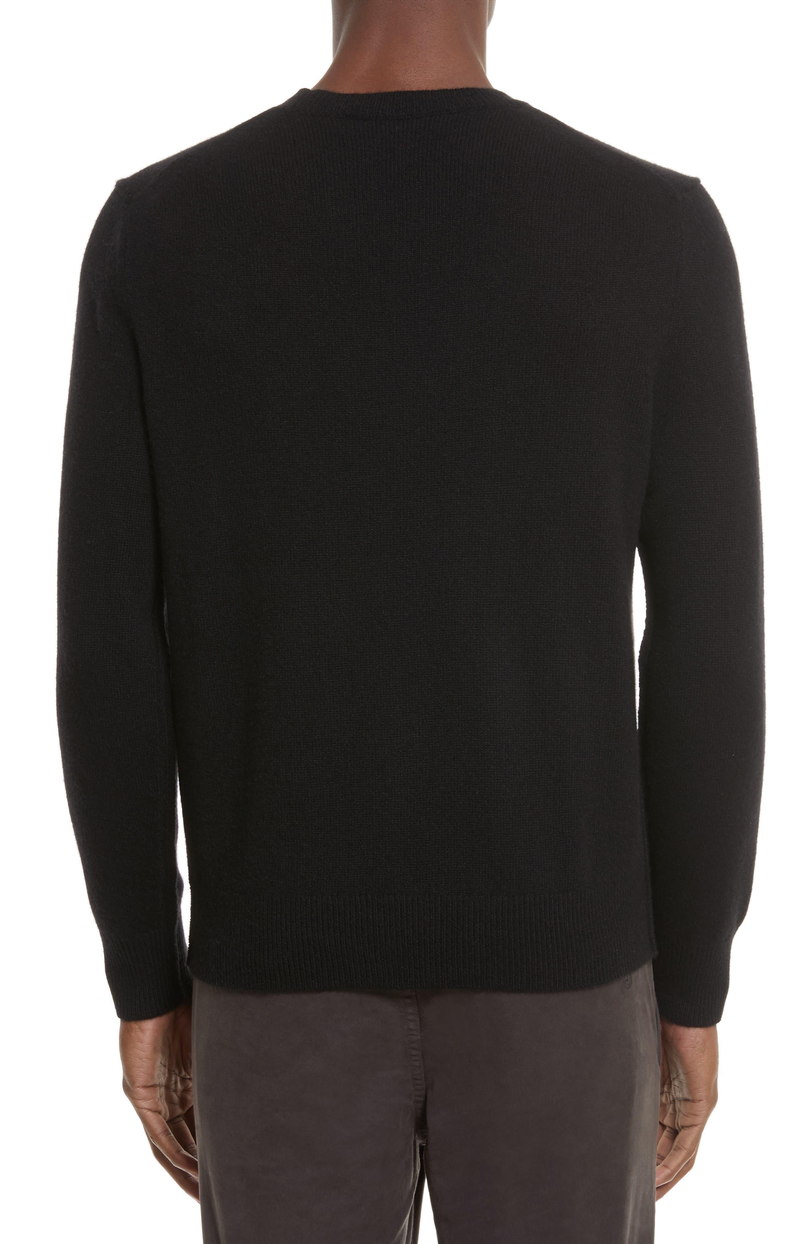 Haldon Cashmere Crewneck Sweatshirt,                             Alternate thumbnail 2, color,                             001