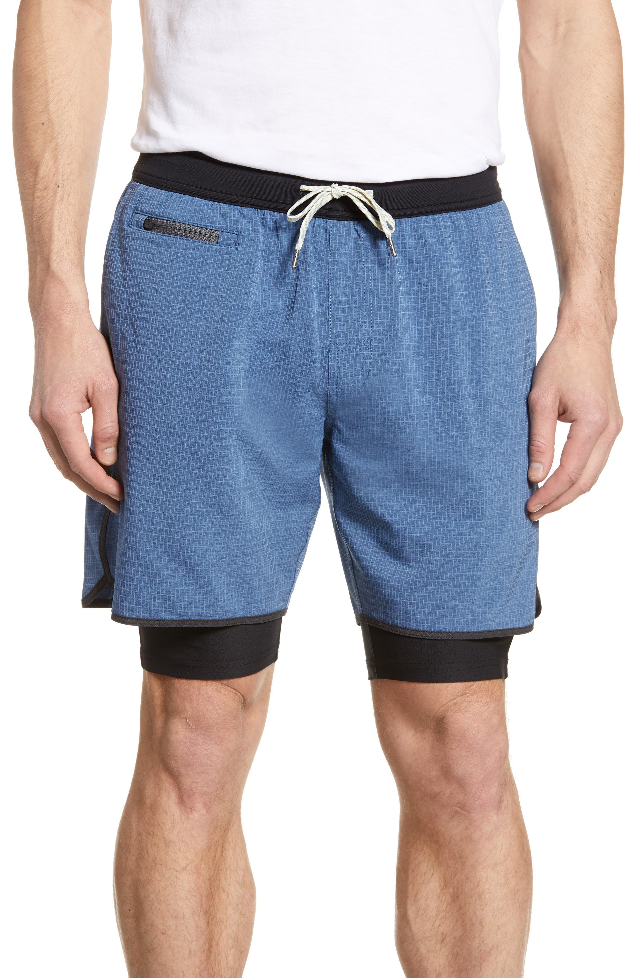 Vuori Stockton Layered Compression Performance Shorts, Blue