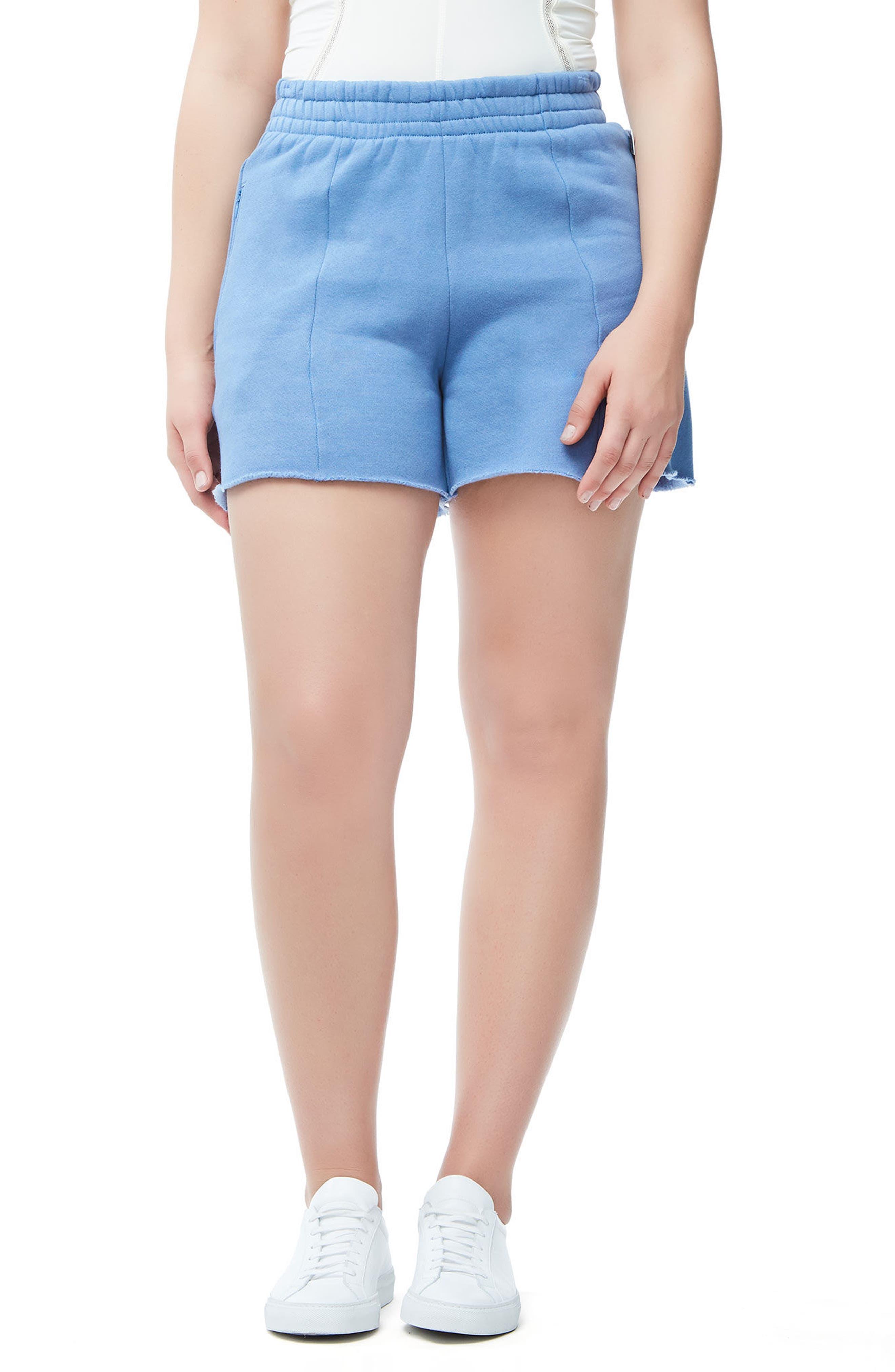 Wide Leg Sweat Shorts,                             Alternate thumbnail 3, color,                             401