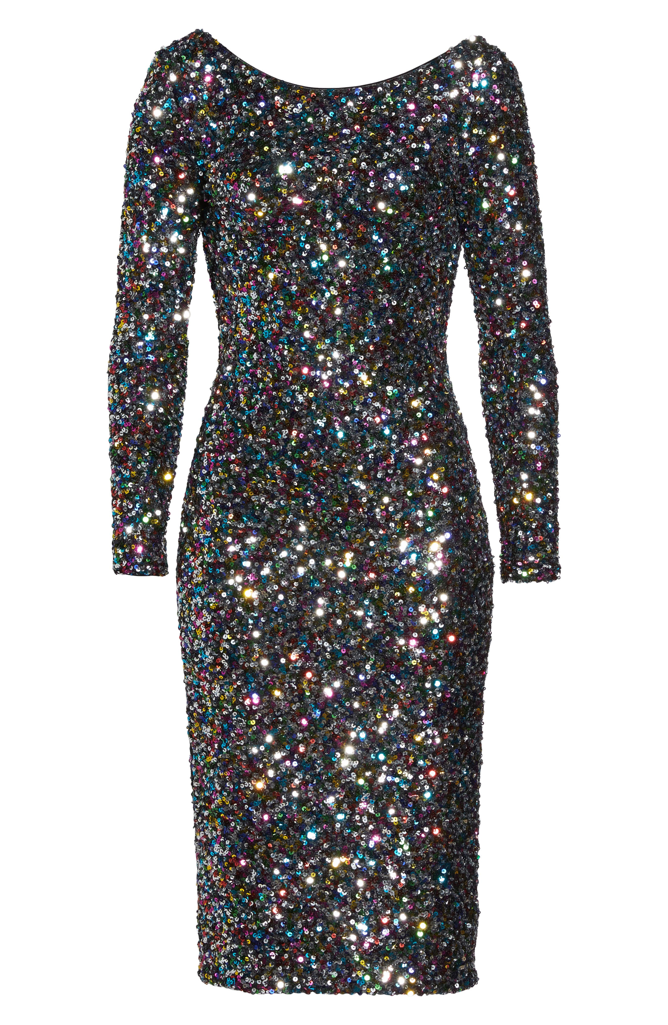 Emery Ombré Sequin Body-Con Dress,                             Alternate thumbnail 27, color,