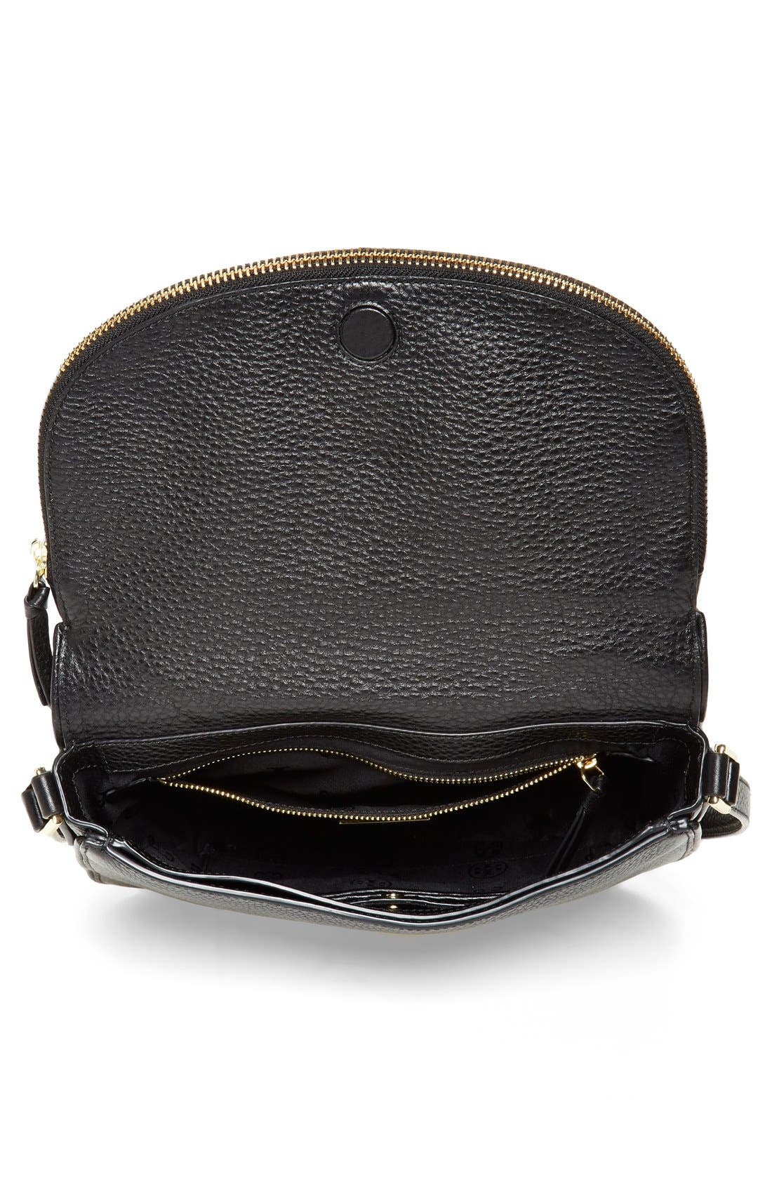 'Robinson' Pebbled Leather Shoulder Bag,                             Alternate thumbnail 5, color,                             001