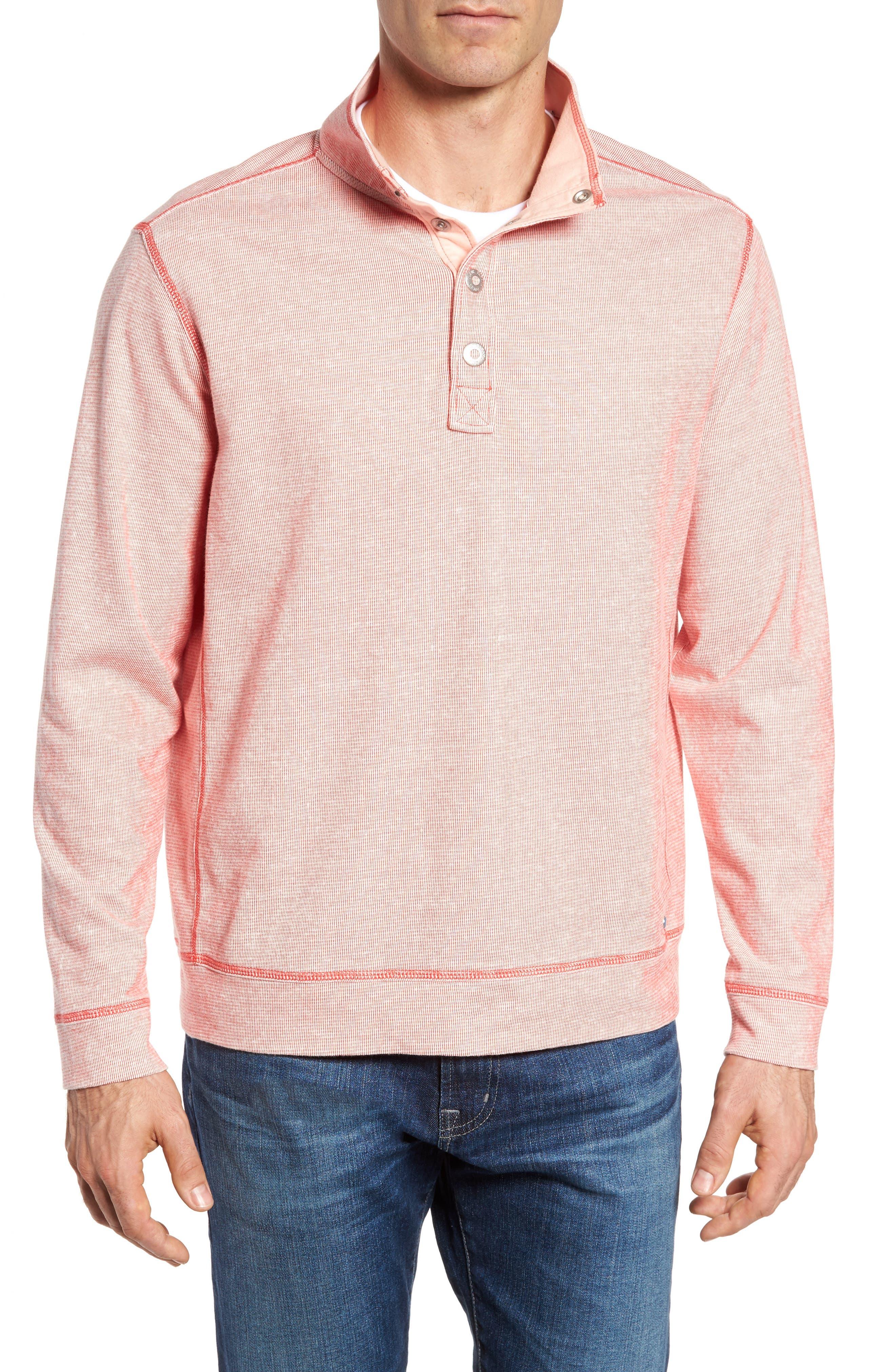 Ocean Mist Snap Mock Neck Sweater,                             Main thumbnail 3, color,