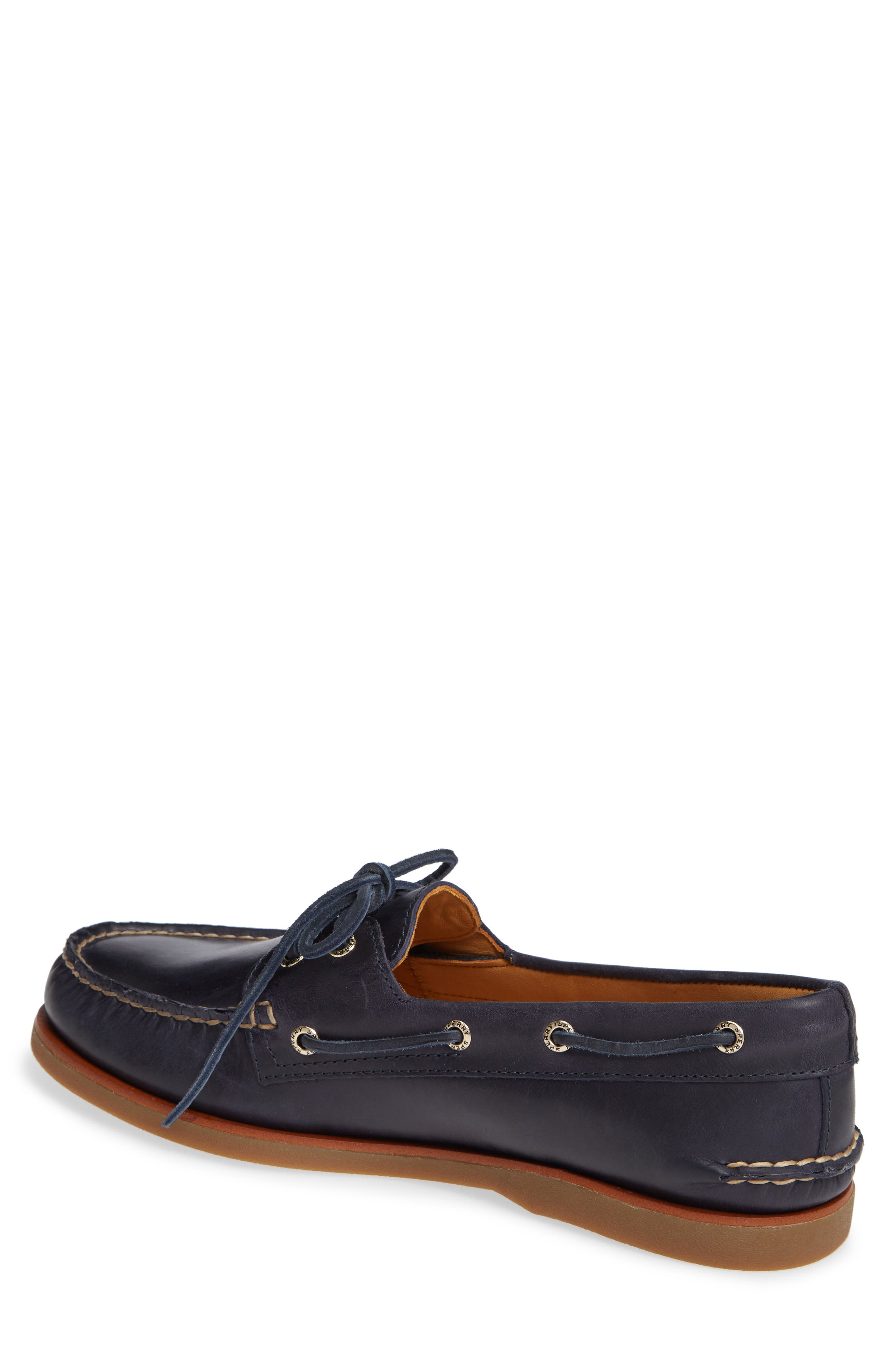 Gold Cup Boat Shoe,                             Alternate thumbnail 2, color,                             NAVY/ GUM