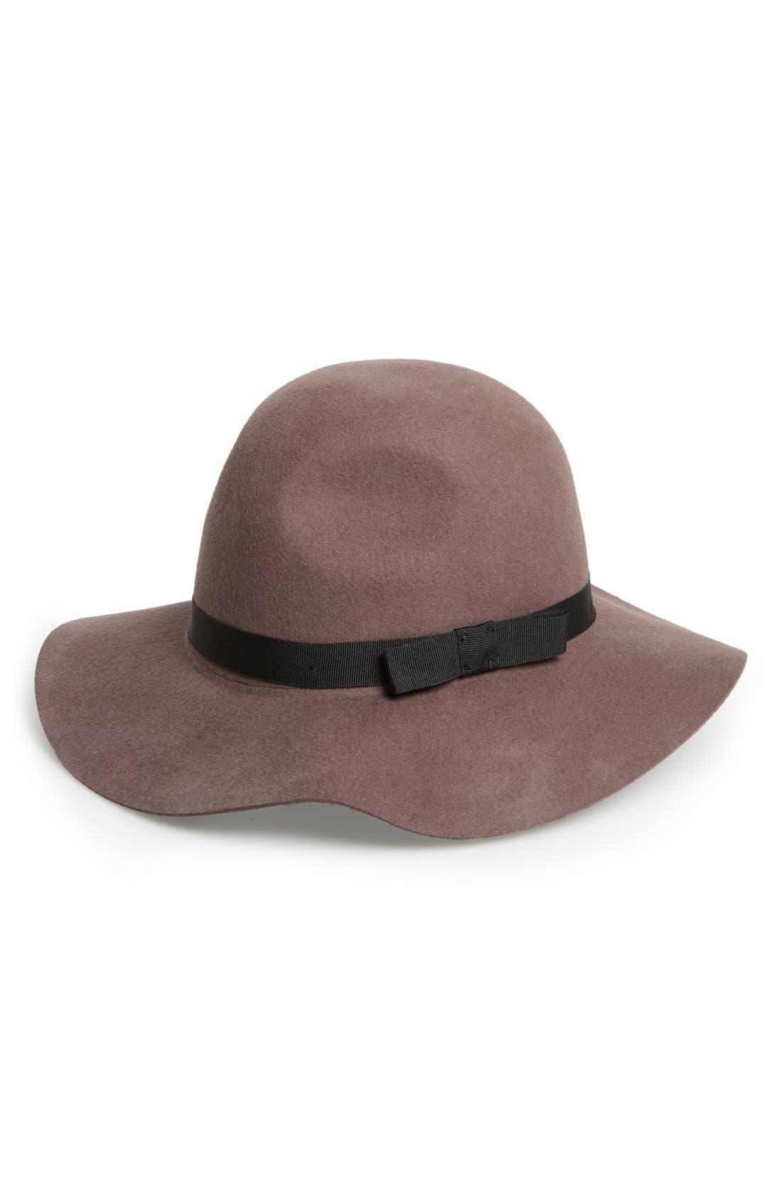 'Dalila' Floppy Felt Hat,                             Main thumbnail 6, color,
