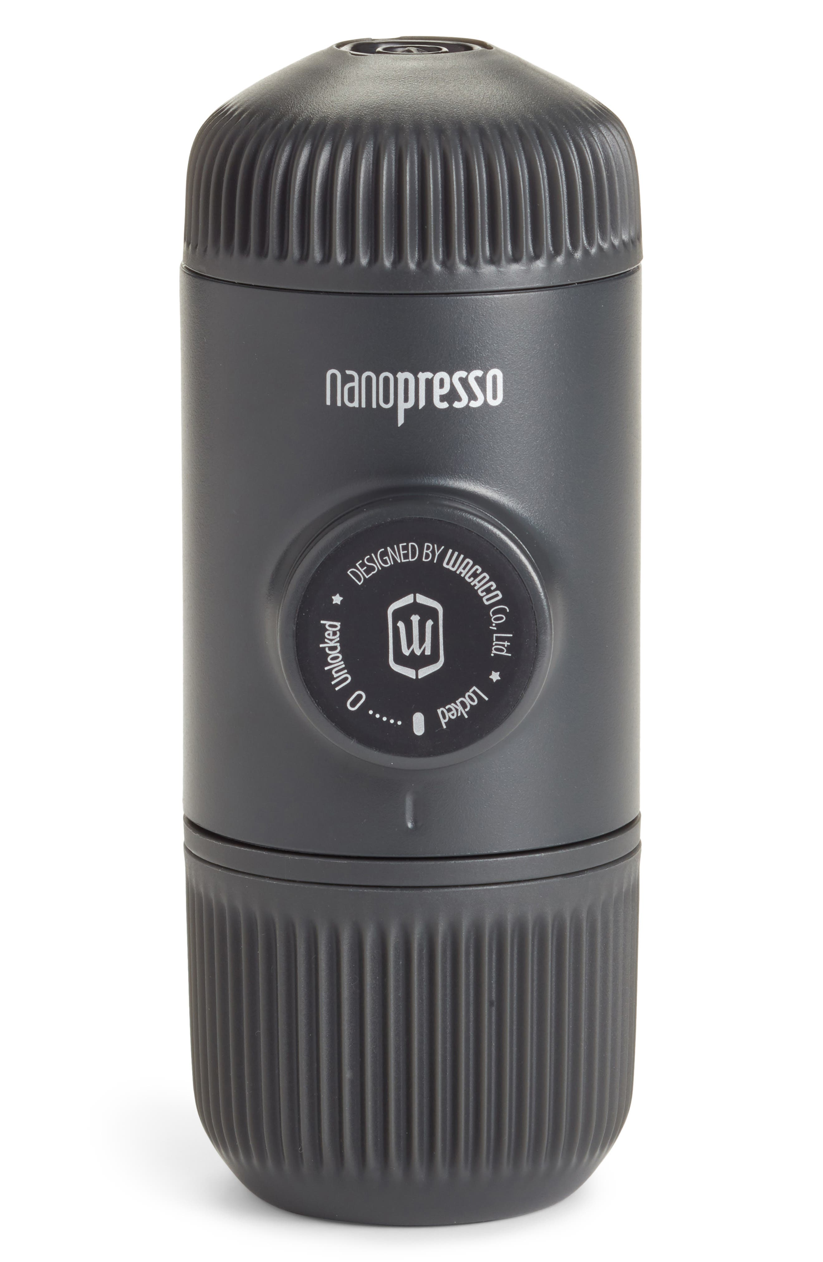 Soda Says x Wacaco Nanopresso Portable Espresso Machine,                             Main thumbnail 1, color,                             GREY