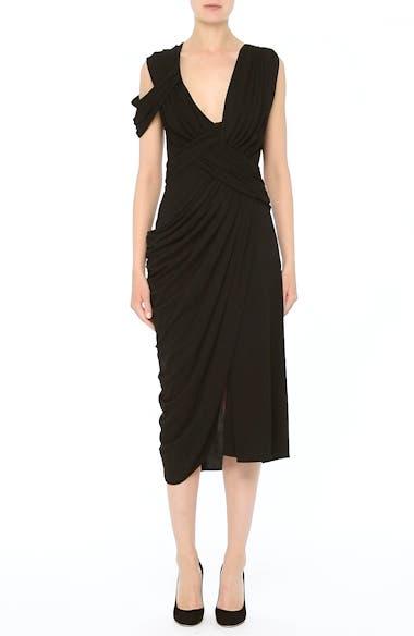 Draped Jersey Cocktail Dress, video thumbnail