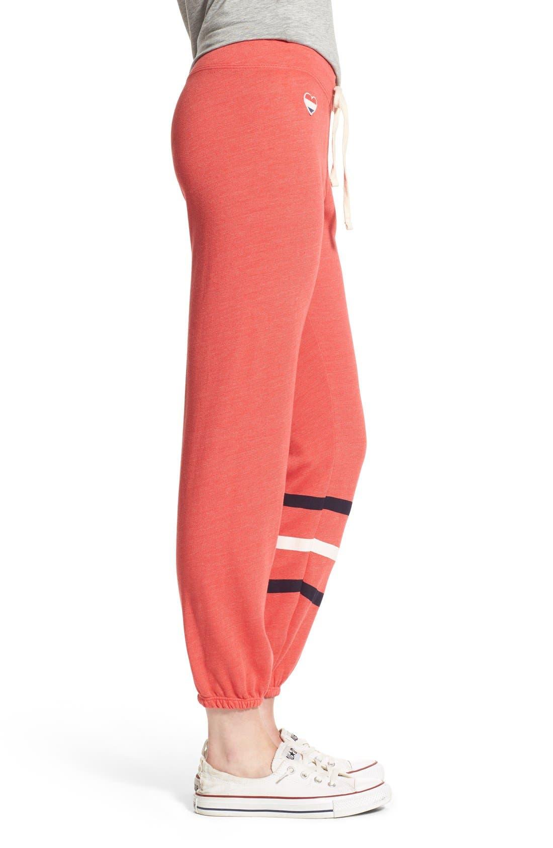 Heart & Stripes Sweatpants,                             Alternate thumbnail 3, color,                             800