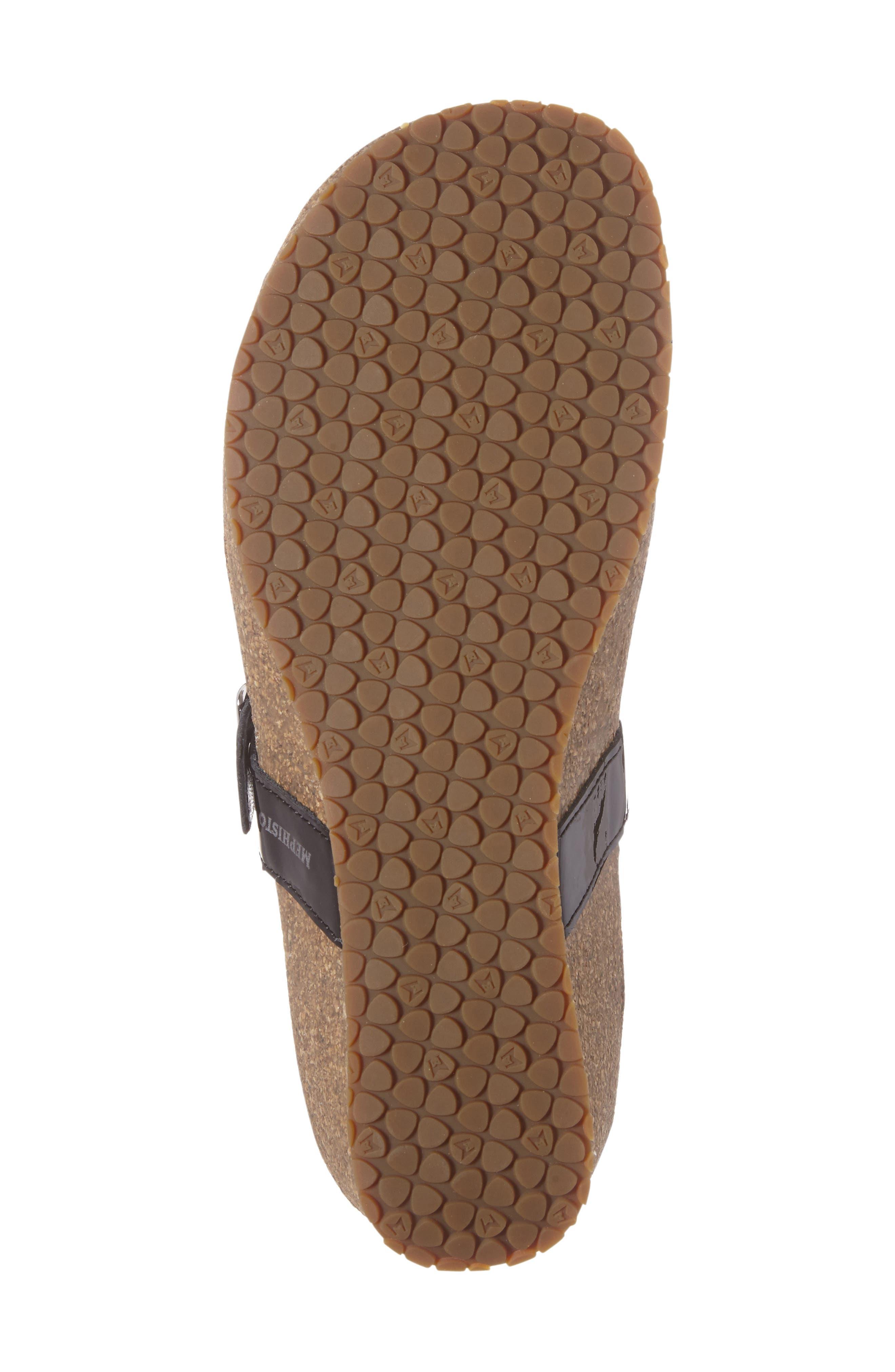 Ilaria Embellished Wedge Sandal,                             Alternate thumbnail 4, color,                             BLACK PATENT LEATHER