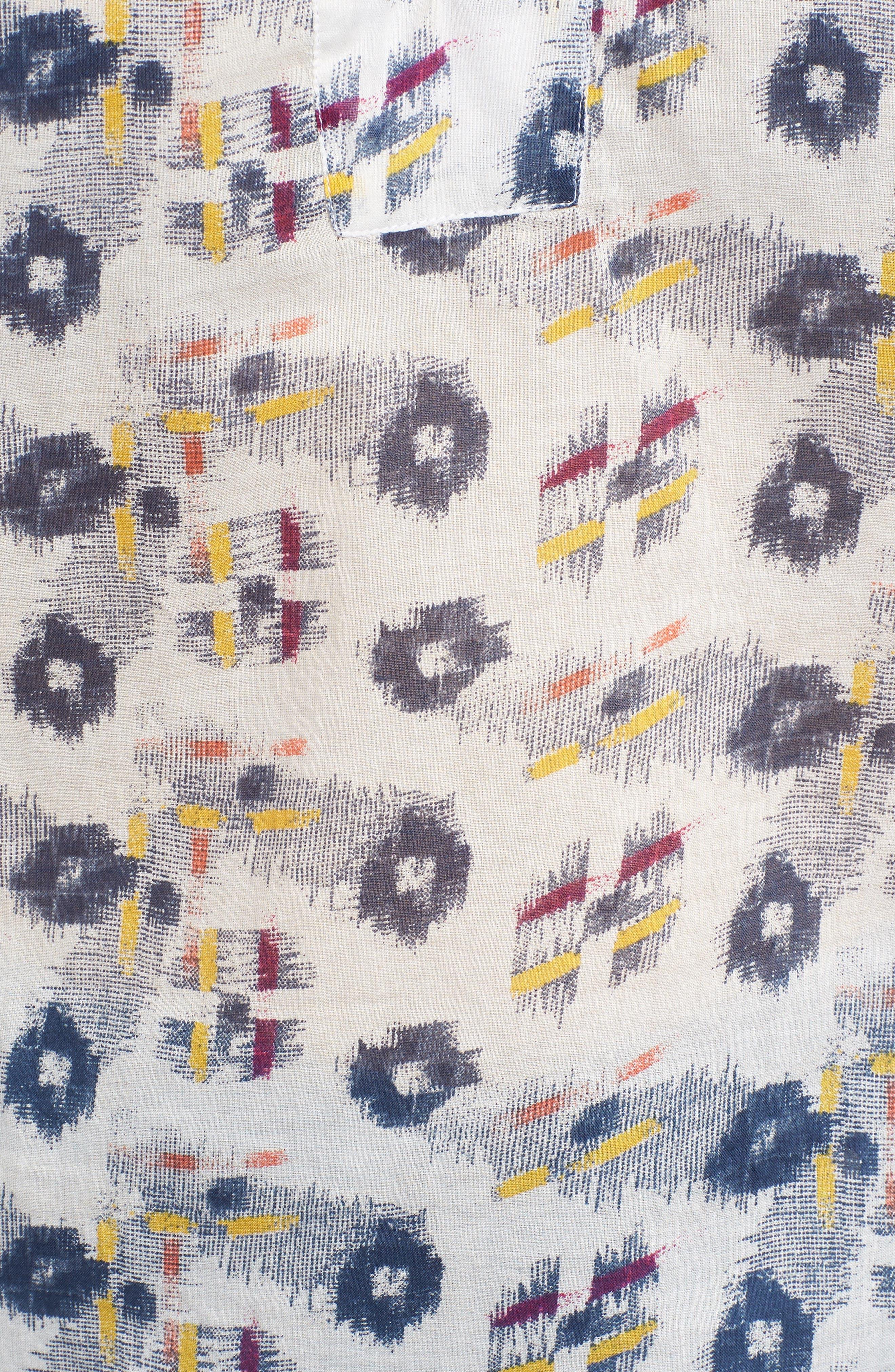 Flounce Sleeve Lace-Up Blouse,                             Alternate thumbnail 6, color,                             903