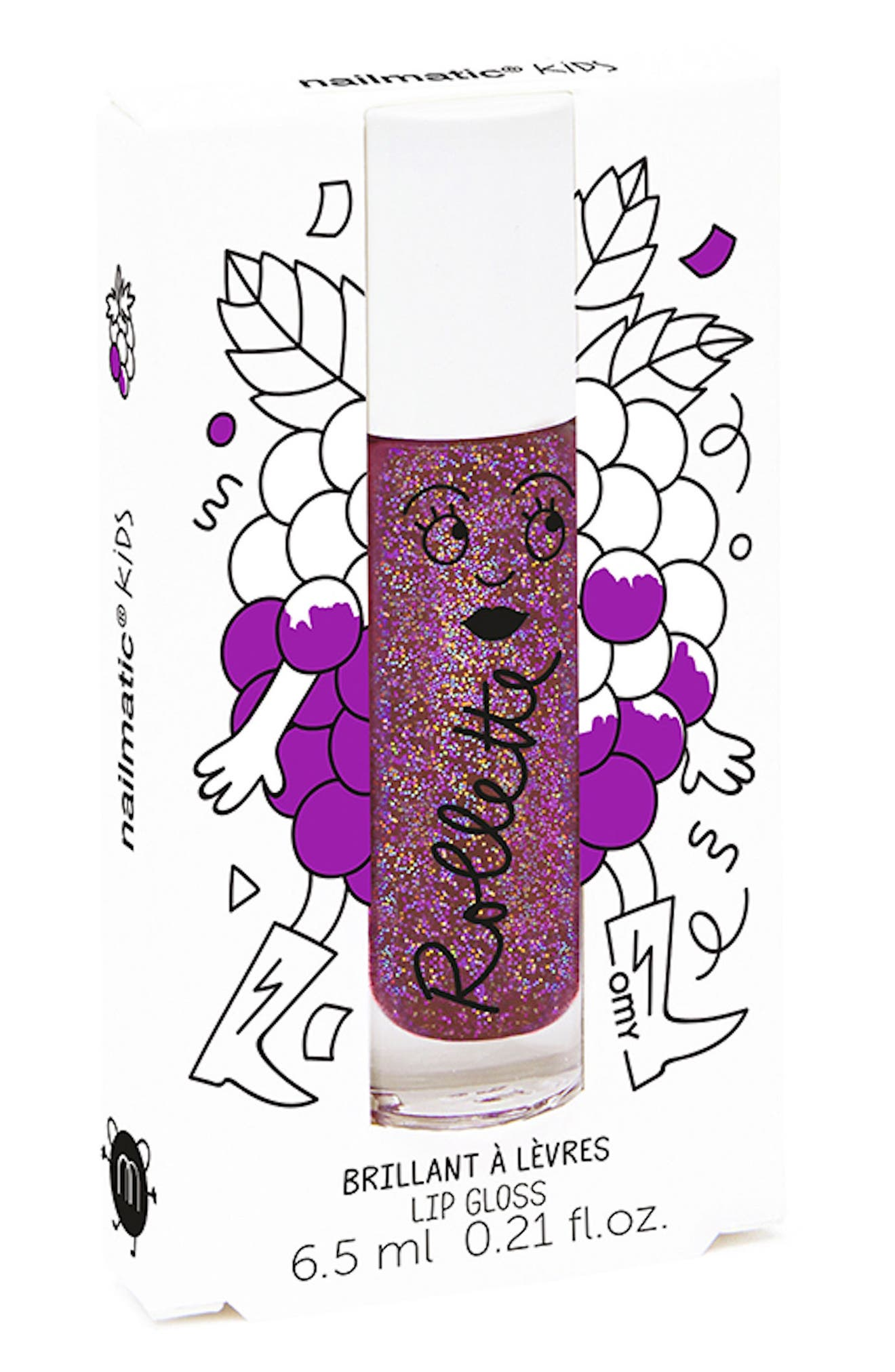 Flavored Lip Gloss,                         Main,                         color, PURPLE