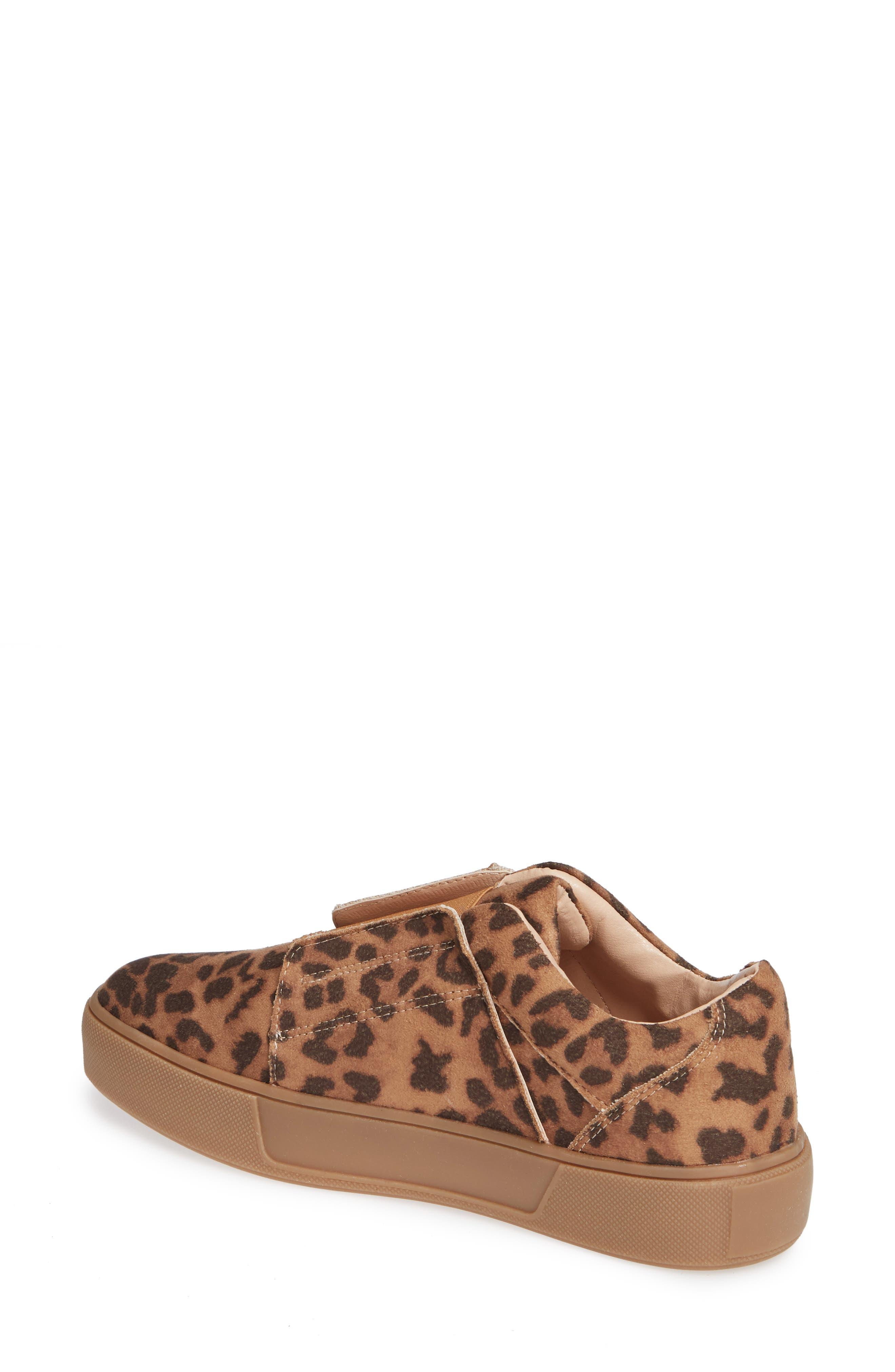 Tamera Slip-On Sneaker,                             Alternate thumbnail 2, color,                             TAN/ LEOPARD MULTI - FABRIC