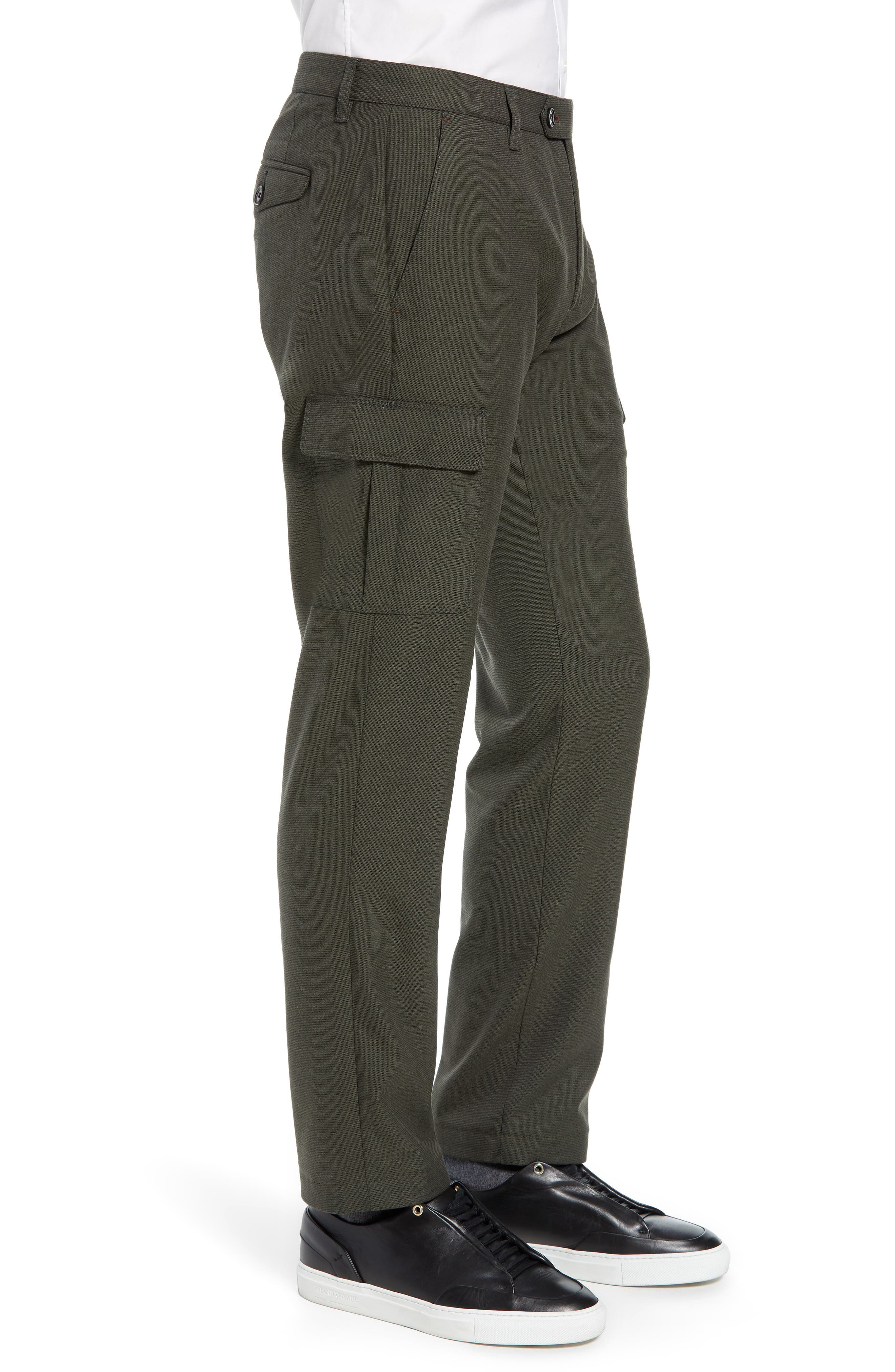Zakery Slim Fit Utility Cargo Trousers,                             Alternate thumbnail 3, color,                             KHAKI
