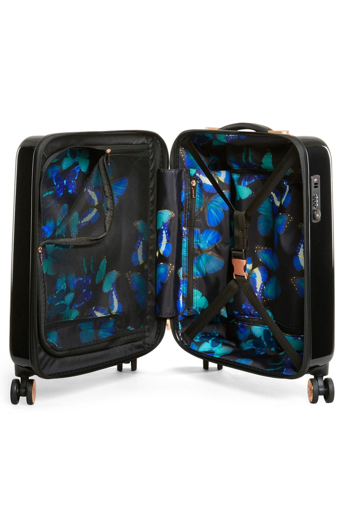 Small 22-Inch Blue Beauty Suitcase,                             Alternate thumbnail 8, color,