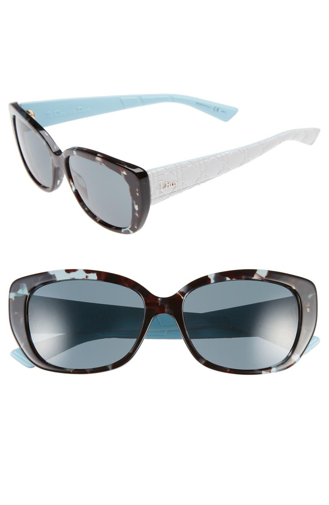 Lady 55mm Cat Eye Sunglasses,                             Main thumbnail 4, color,
