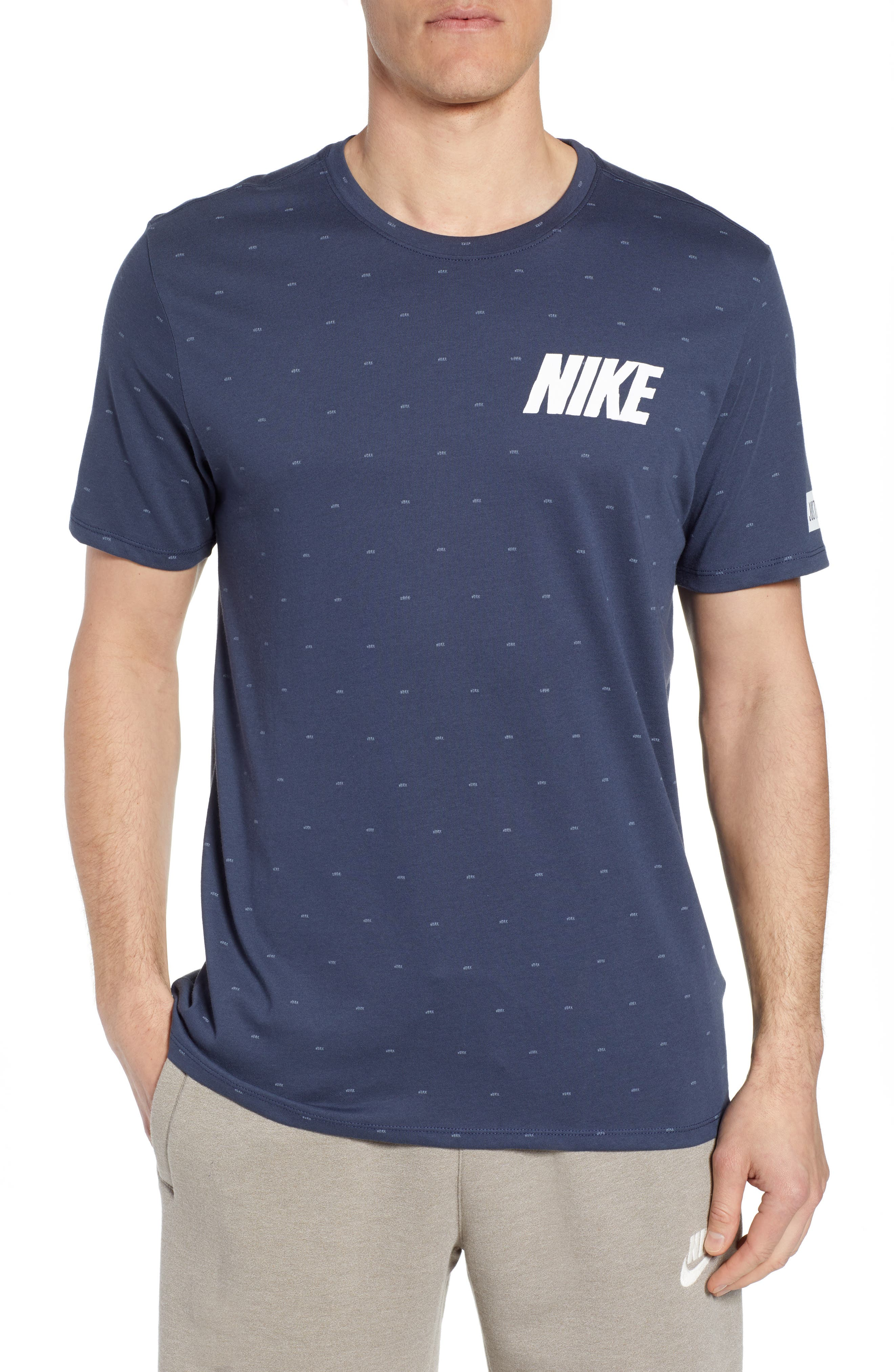 Nike Dry Print T-Shirt Blue