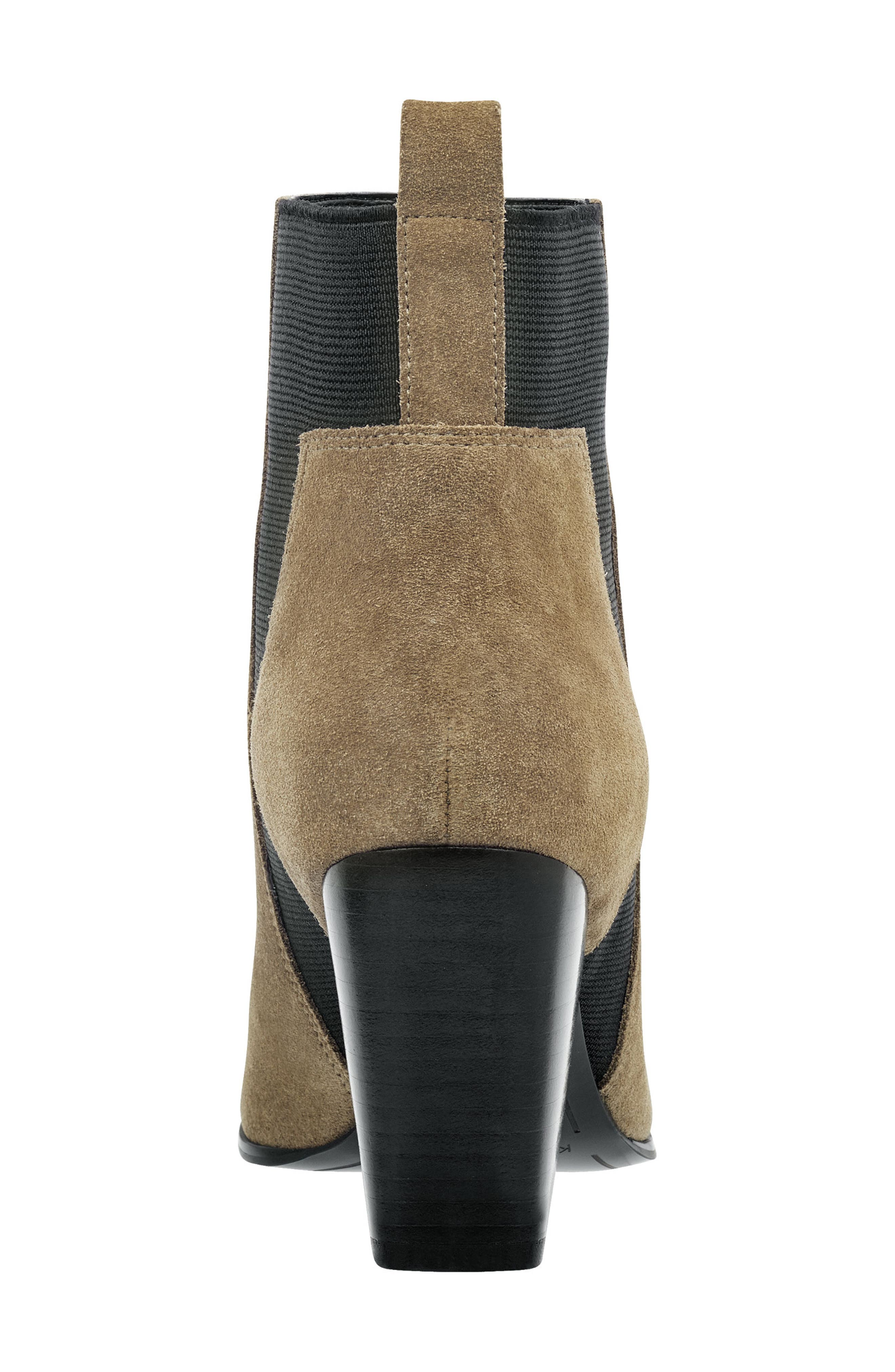 Pointy Toe Chelsea Bootie,                             Alternate thumbnail 7, color,                             TAUPE