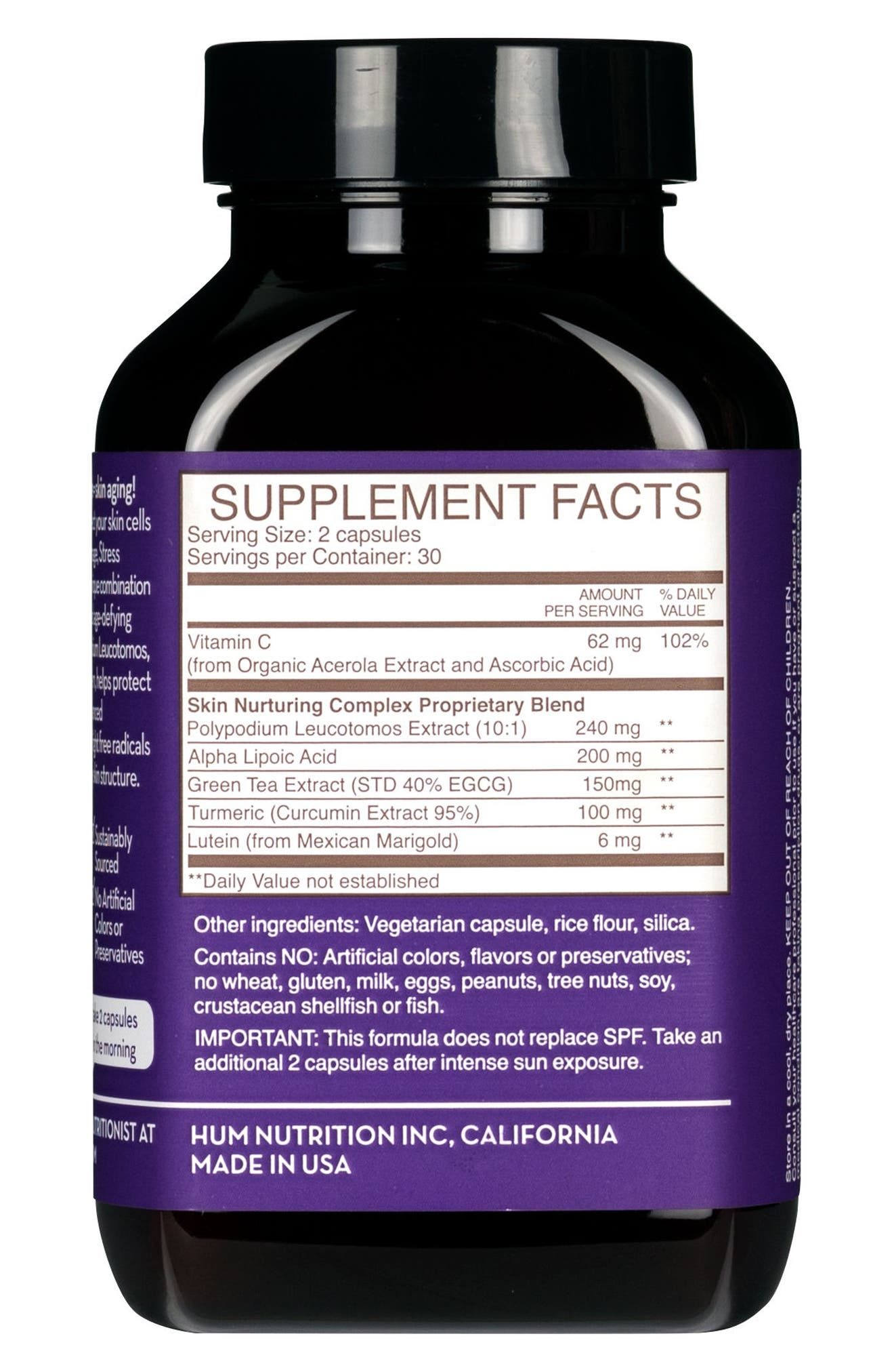 Turn Back Time Anti-Aging Supplement,                             Alternate thumbnail 3, color,                             NO COLOR