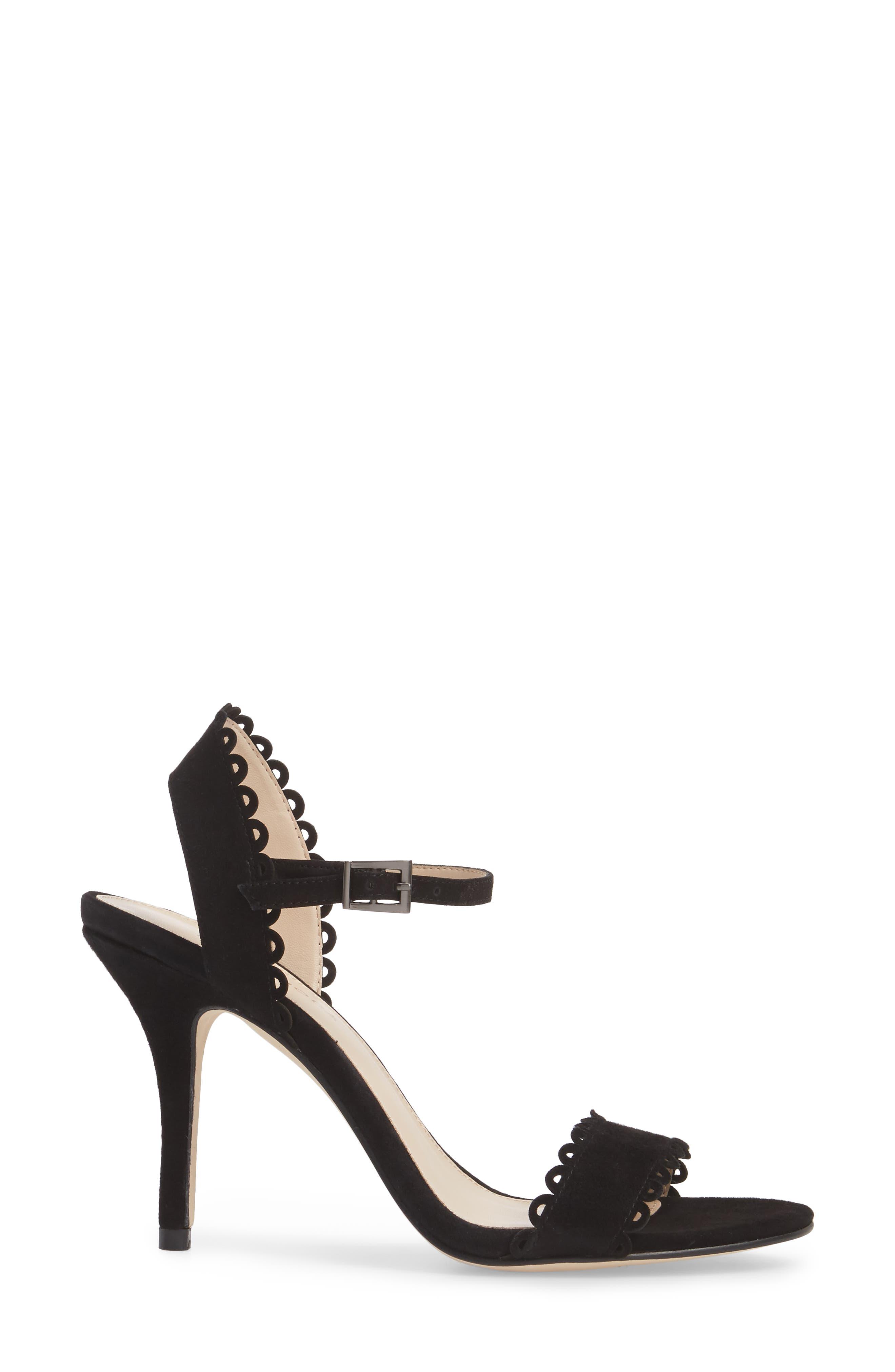 Karen Scallop Ankle Strap Sandal,                             Alternate thumbnail 7, color,