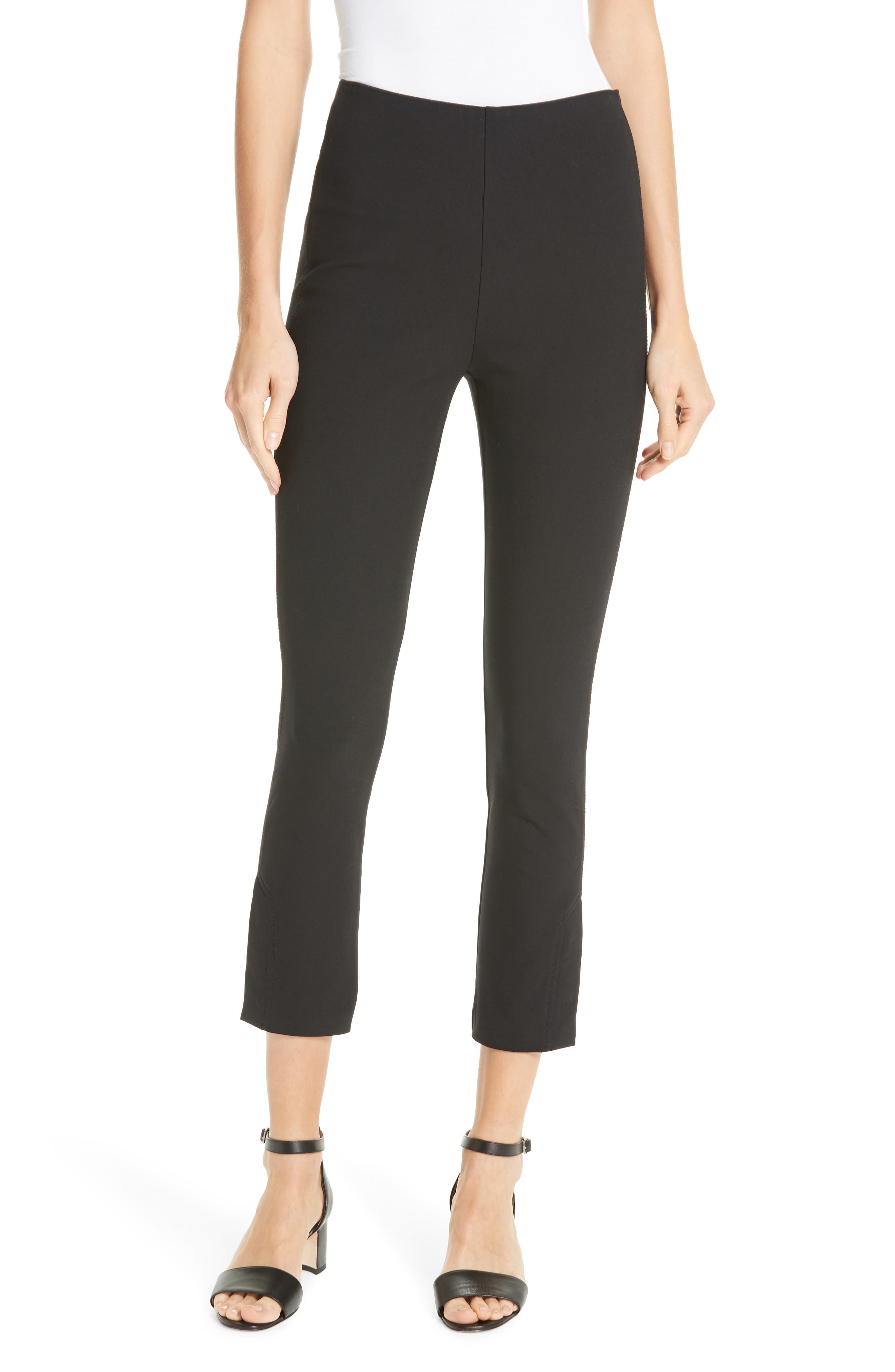 DEREK LAM 10 CROSBY Sullivan Leggings, Main, color, BLACK
